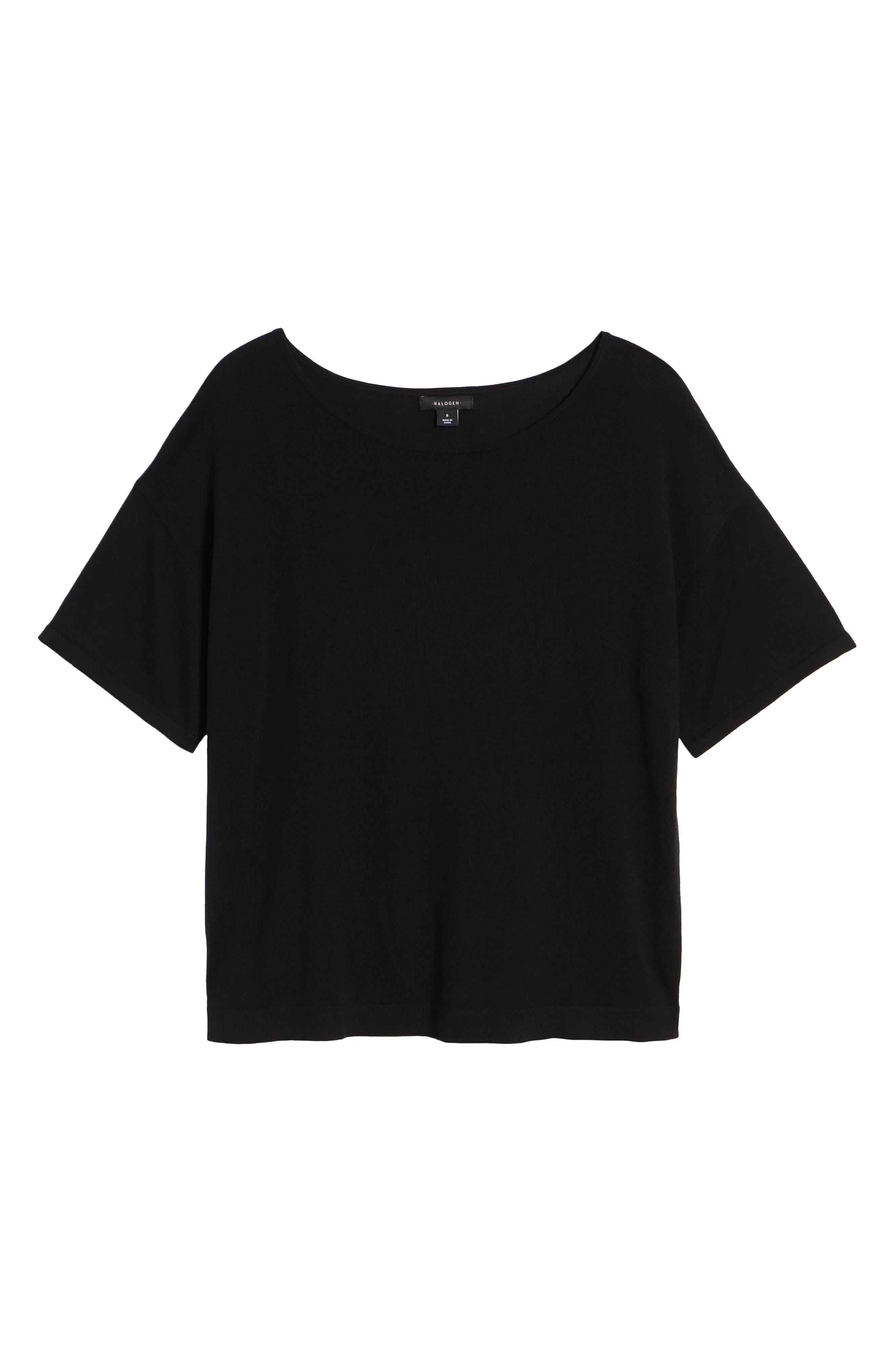 Lightweight Sweater,                             Alternate thumbnail 6, color,                             Black