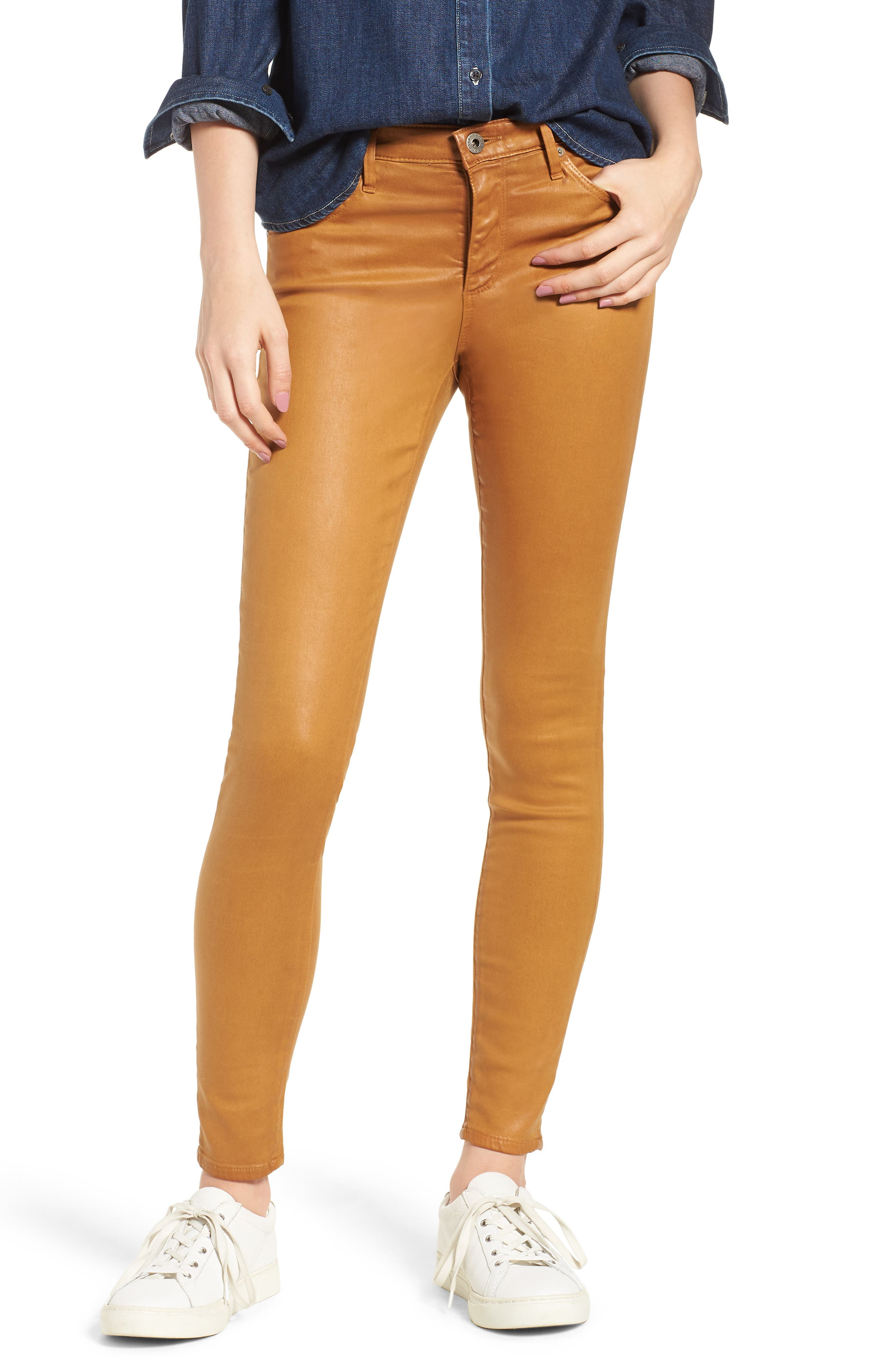 The Legging Ankle Jeans,                         Main,                         color, Leatheret Duck Canvas
