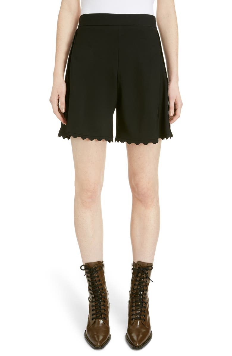 Scallop Trim Cady Shorts