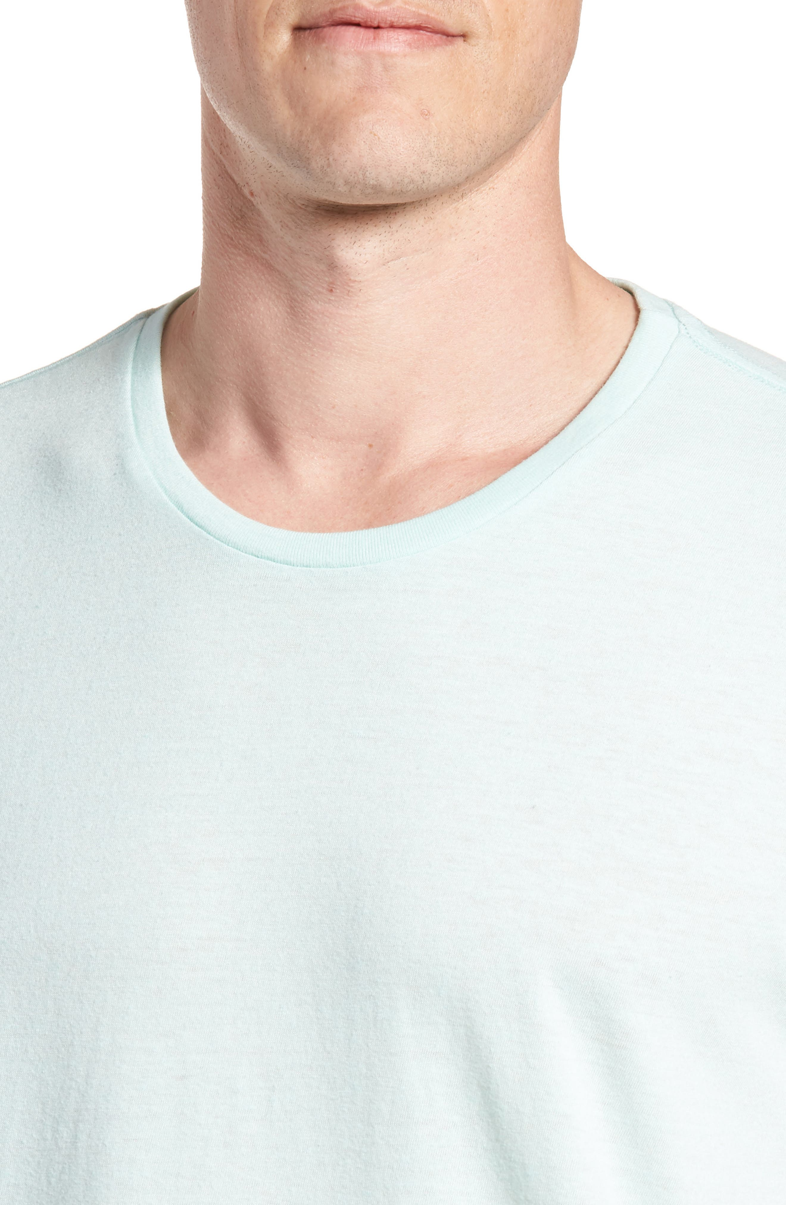 LA Slim Fit Heathered T-Shirt,                             Alternate thumbnail 4, color,                             Heather Mint