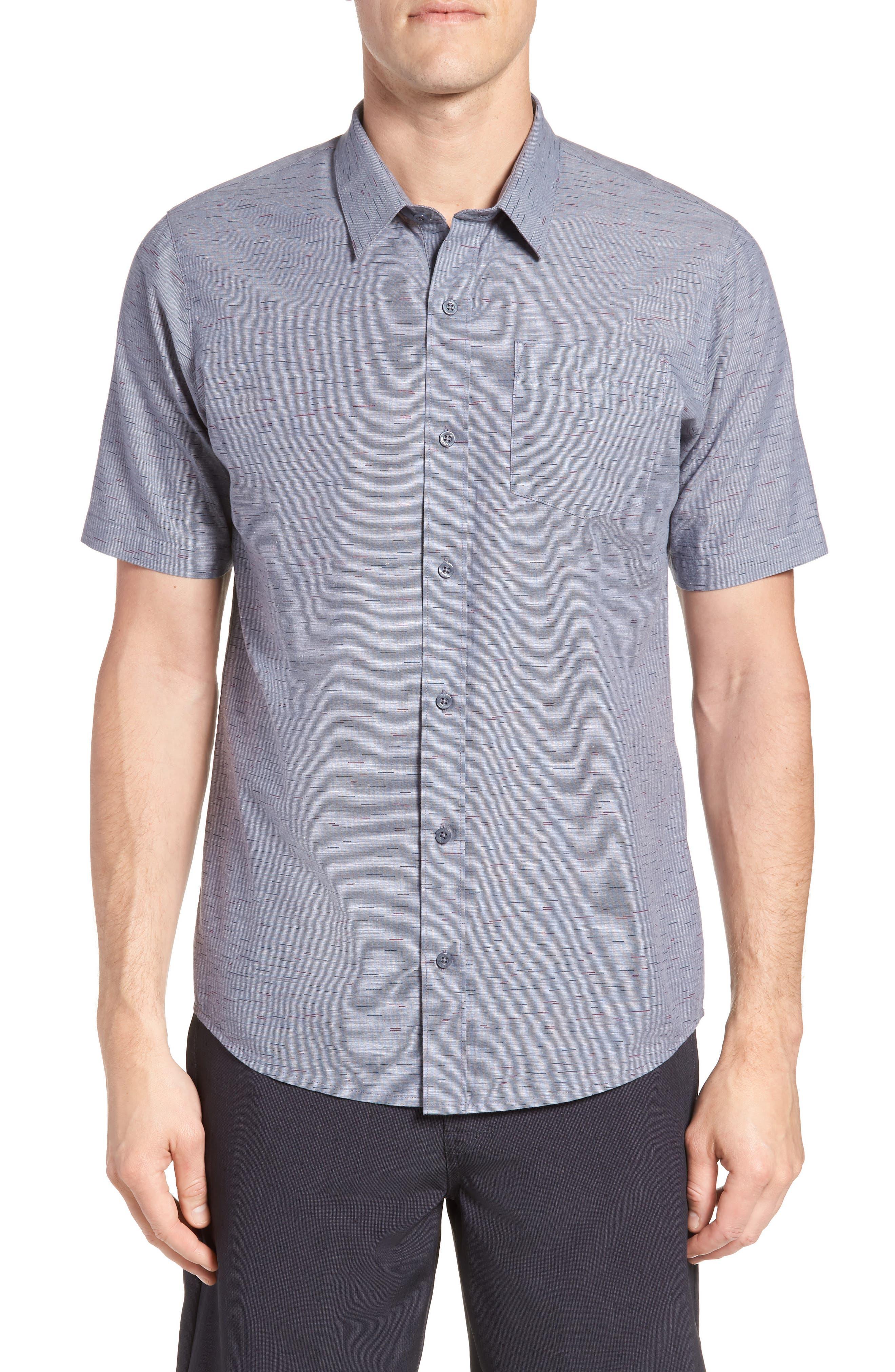 Stacoto Regular Fit Sport Shirt,                         Main,                         color, Heather Alloy