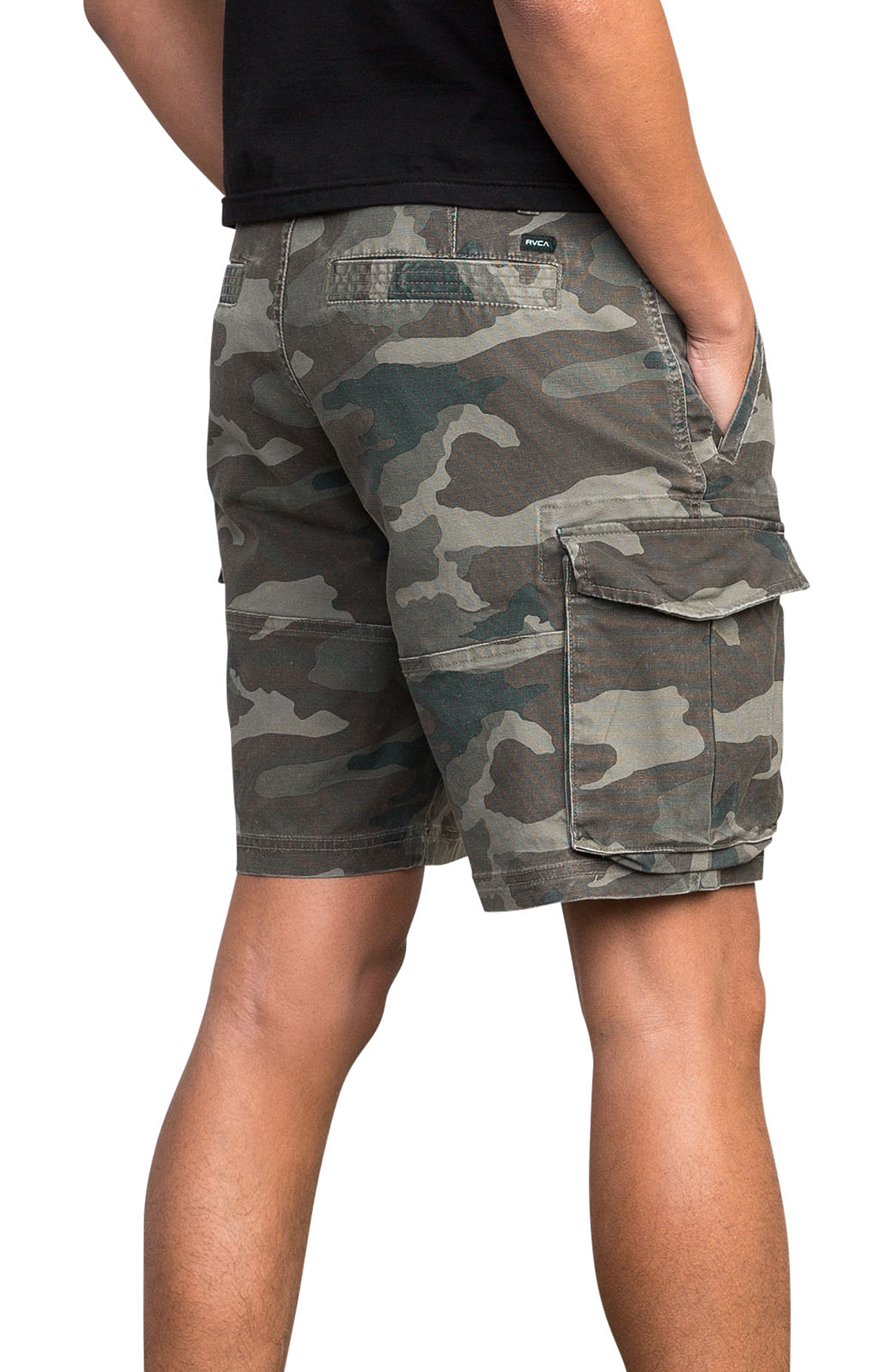 Wannabe Cargo Shorts,                             Alternate thumbnail 3, color,                             Camo