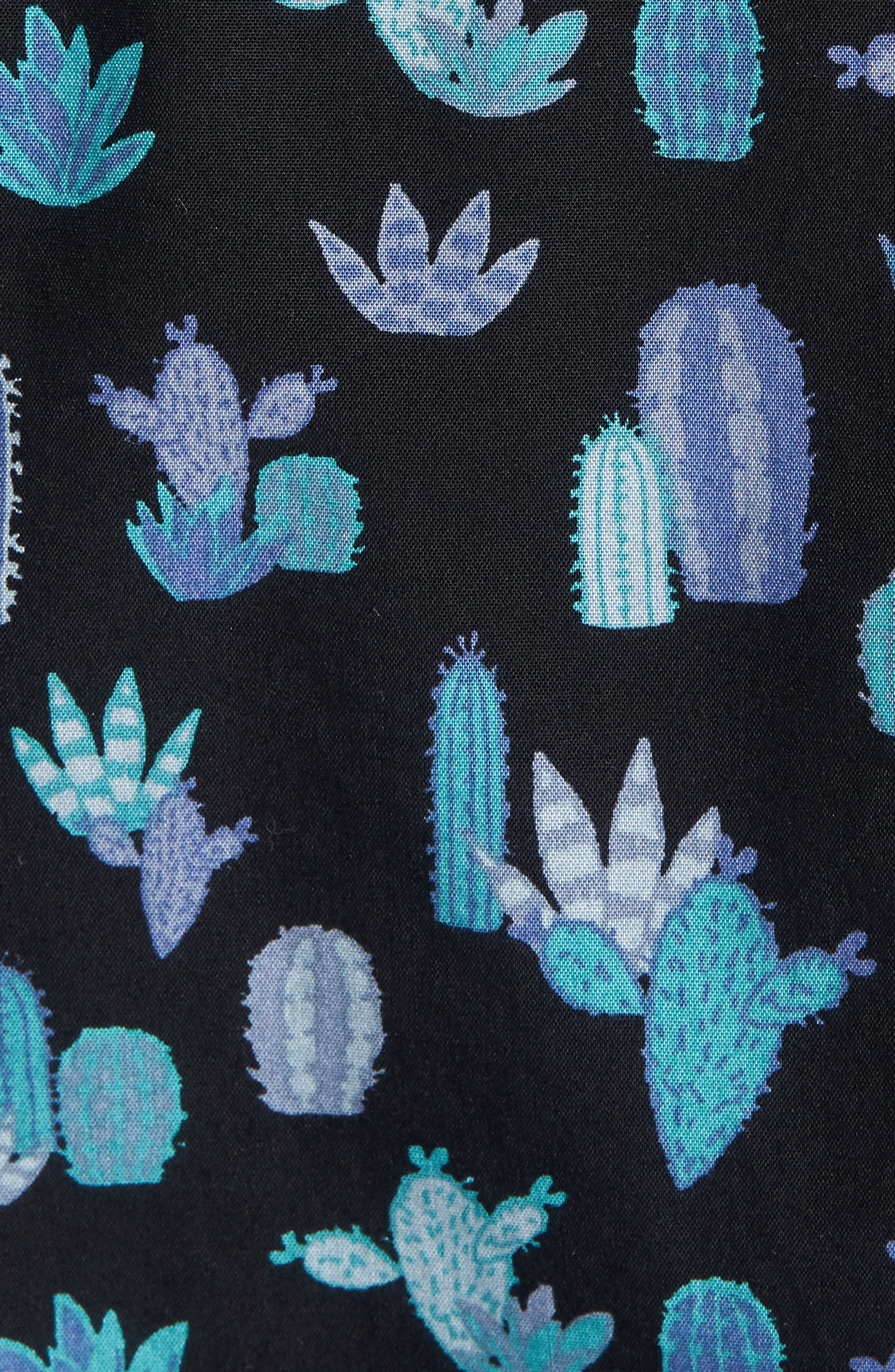 Trim Fit Cactus Print Sport Shirt,                             Alternate thumbnail 5, color,                             Grey Onyx Short Cacti