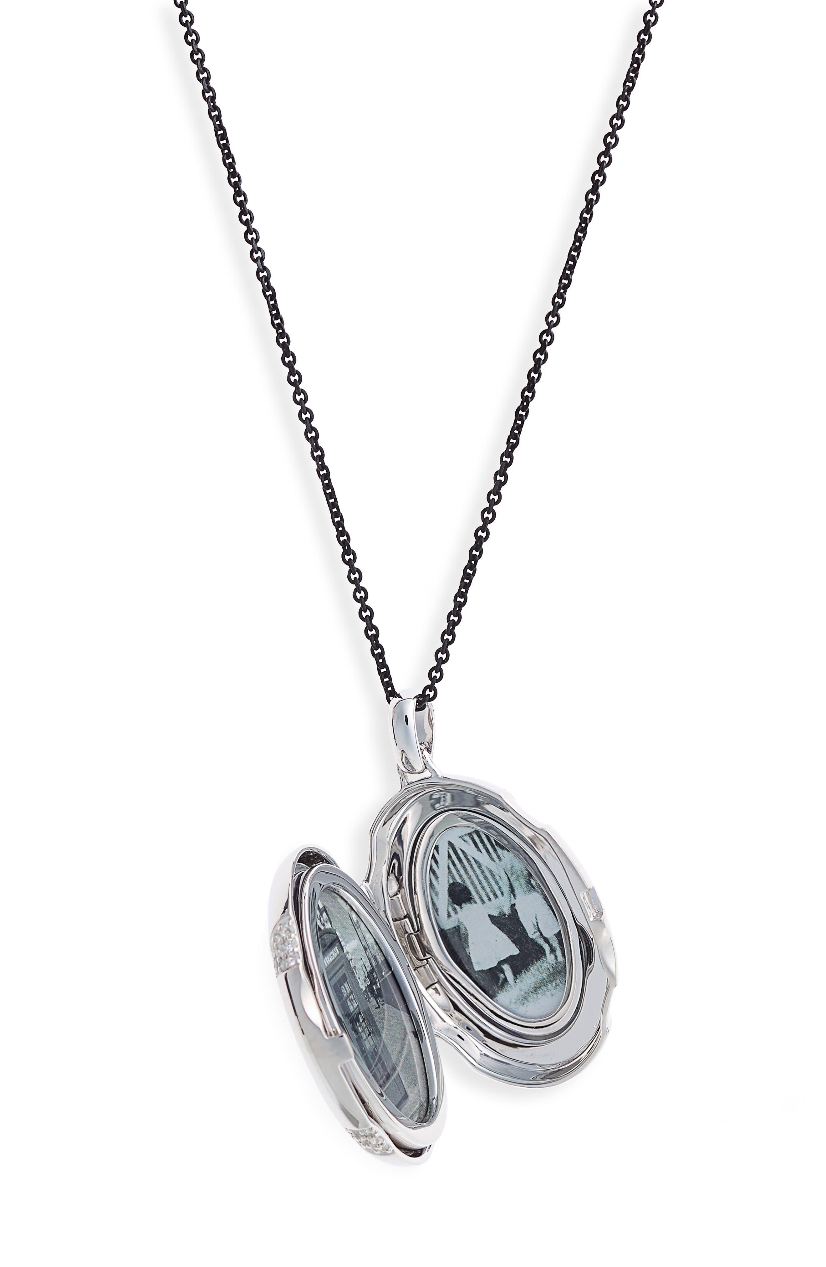 4-Image Locket Necklace,                             Alternate thumbnail 2, color,                             Sterling Silver