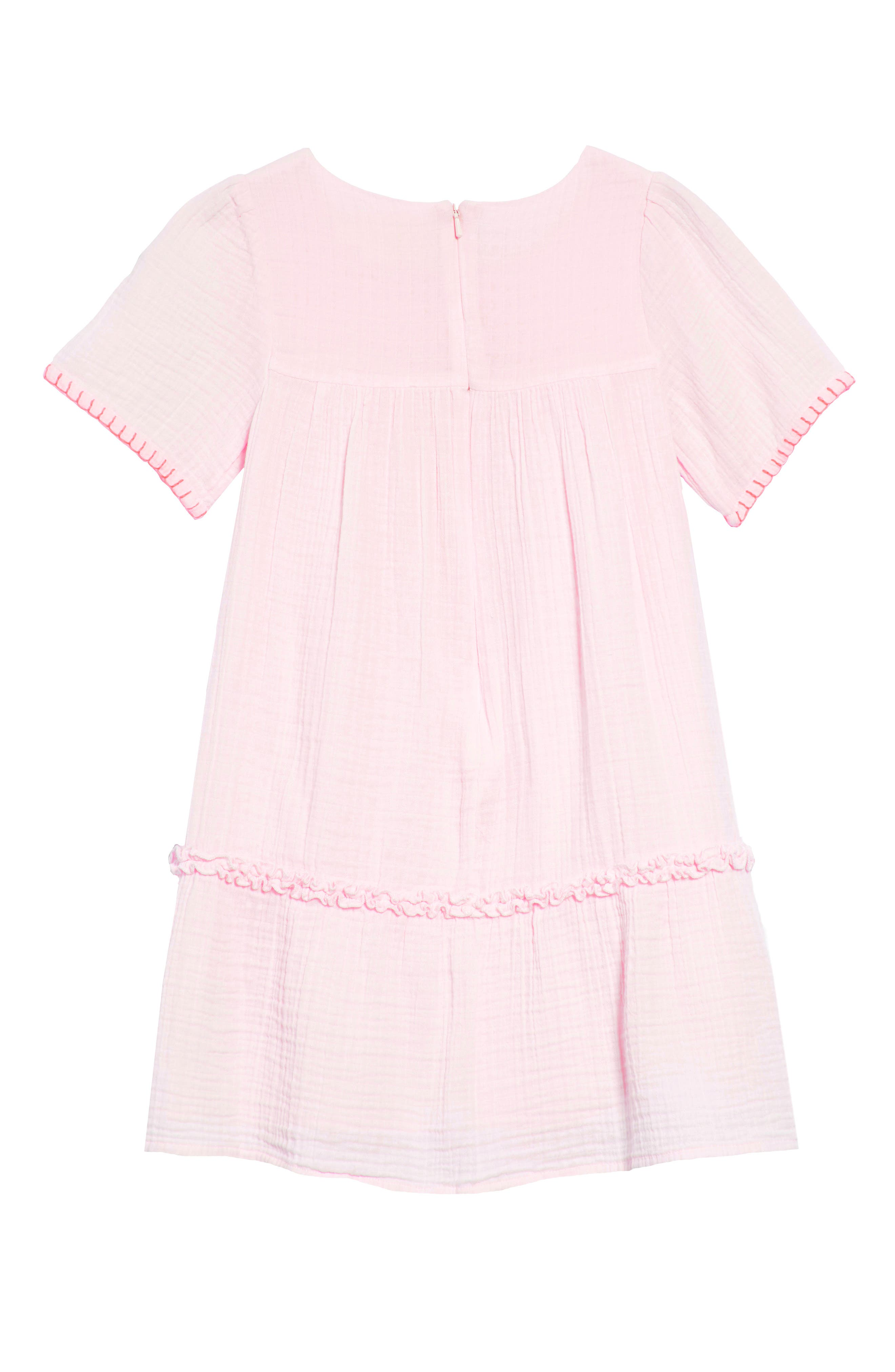Embroidered Woven Caftan Dress,                             Alternate thumbnail 2, color,                             Pink Mist