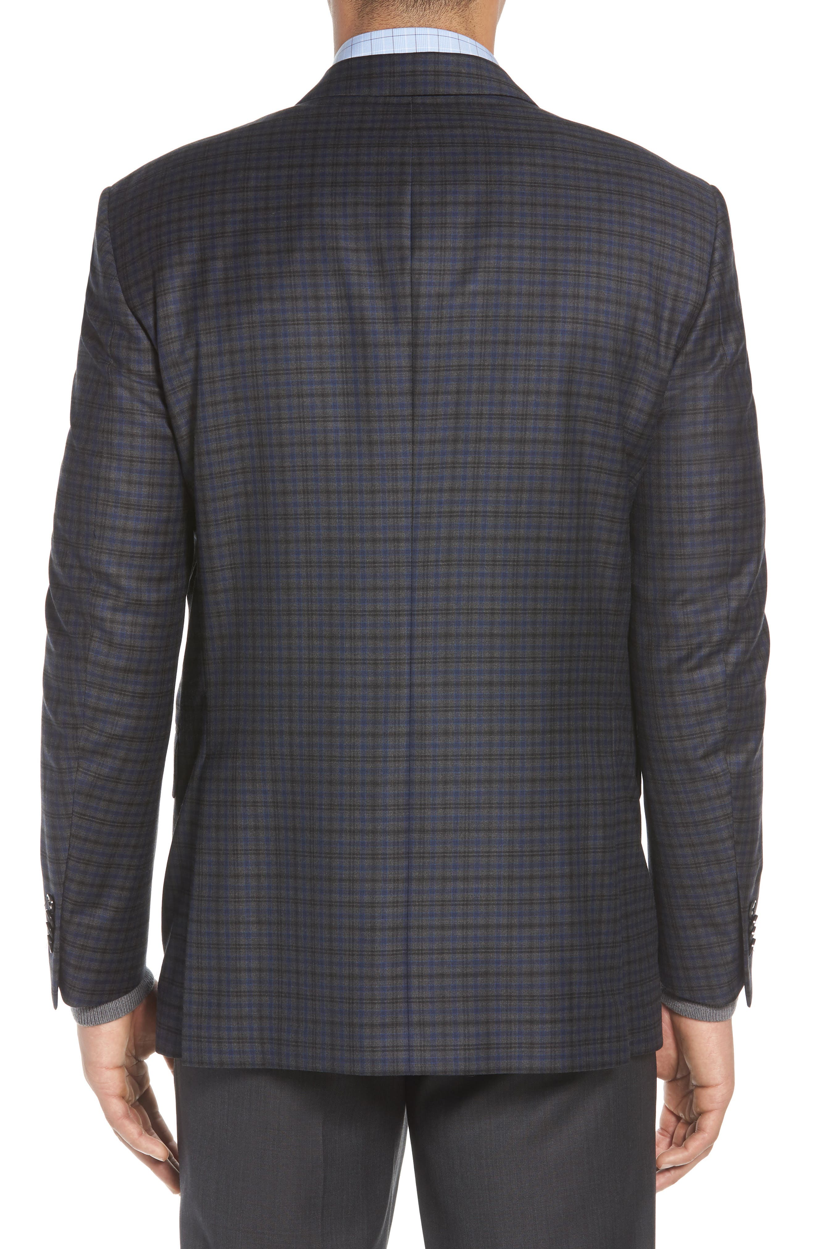 Classic Fit Windowpane Check Wool Sport Coat,                             Alternate thumbnail 2, color,                             Grey