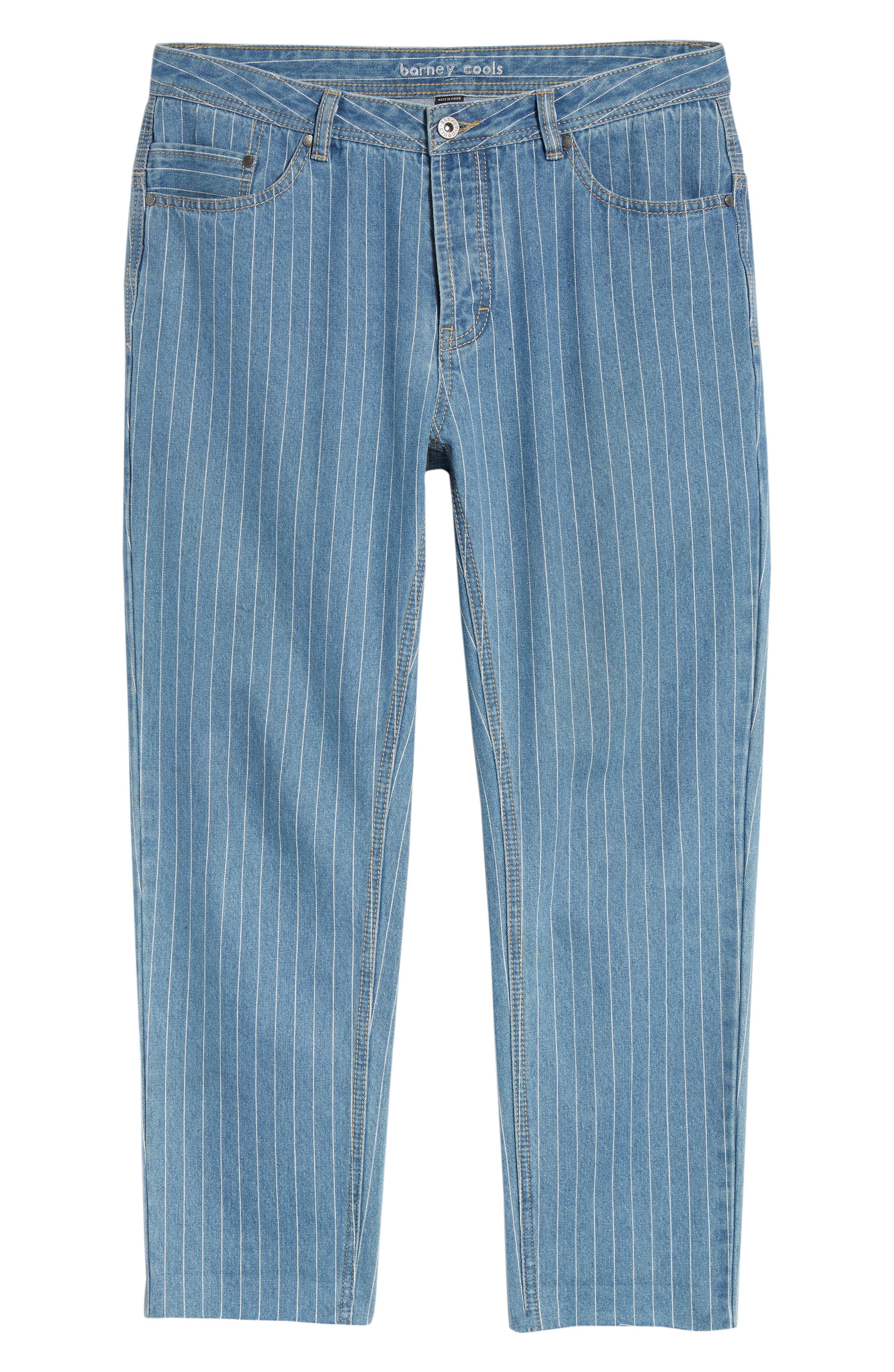 B. Relaxed Jeans,                             Alternate thumbnail 6, color,                             Stripe Denim Crop