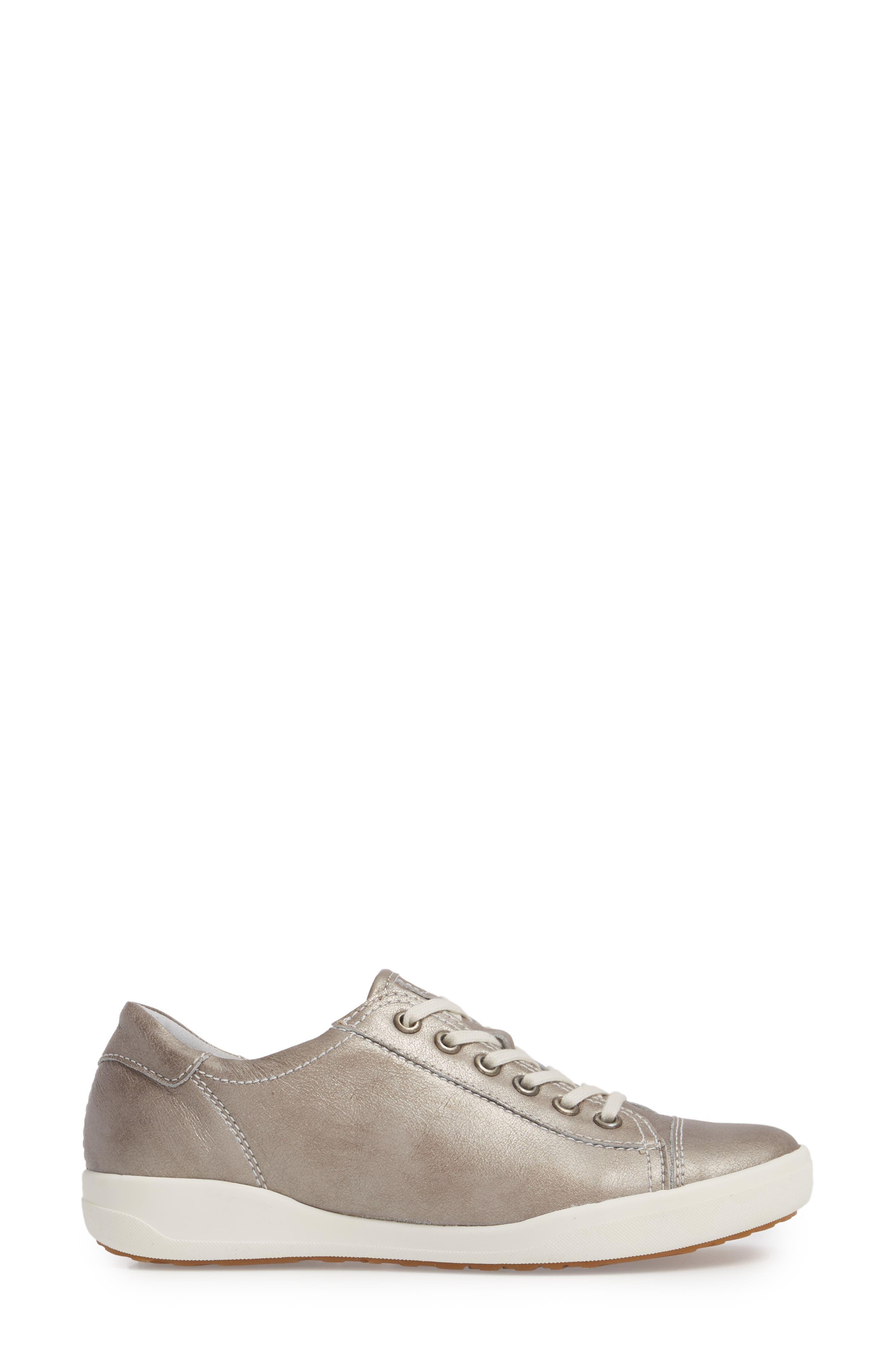 Sina 11 Sneaker,                             Alternate thumbnail 3, color,                             Platin Leather