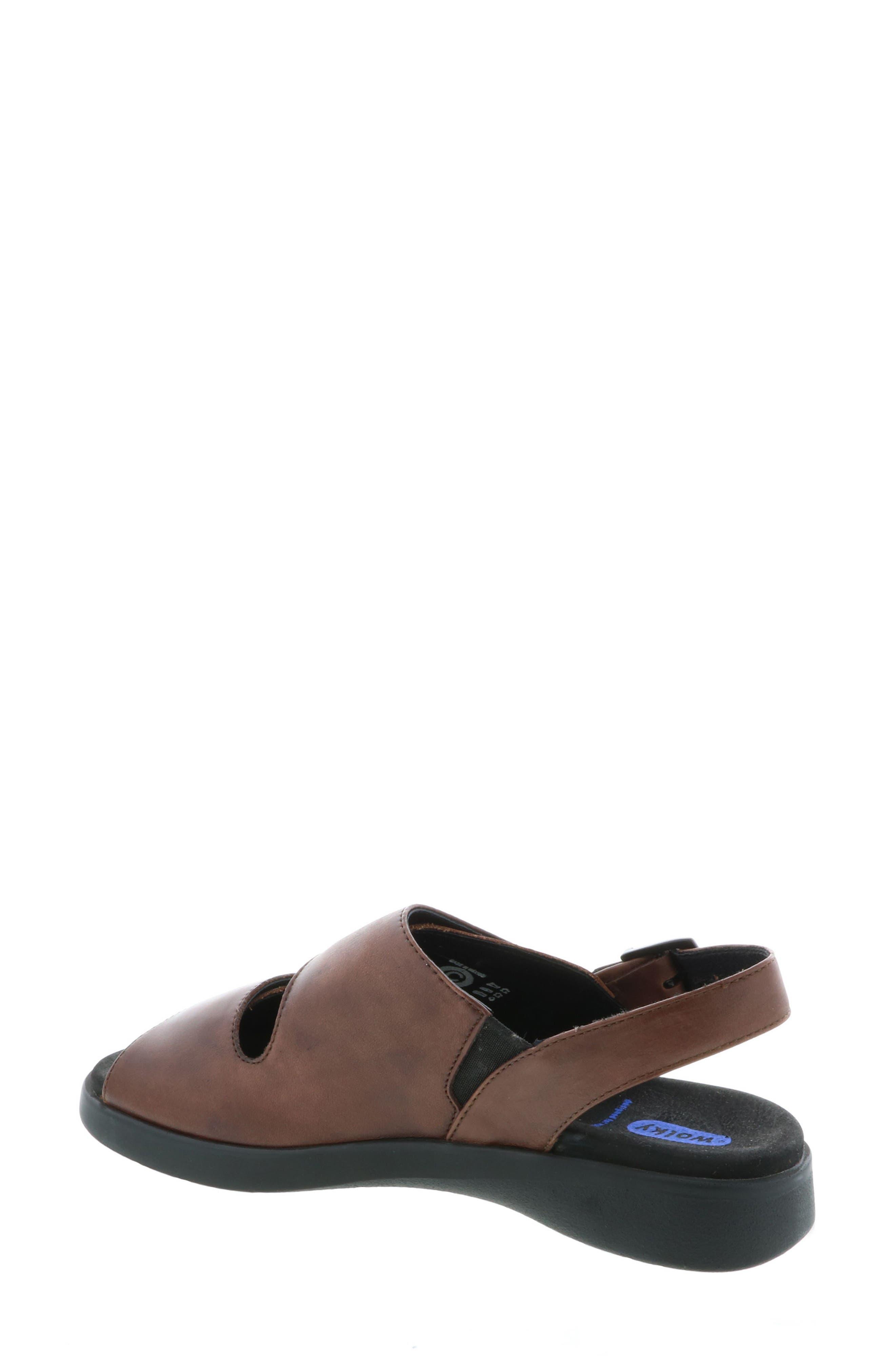 Nimes Sandal,                             Alternate thumbnail 2, color,                             Cognac Faux Leather
