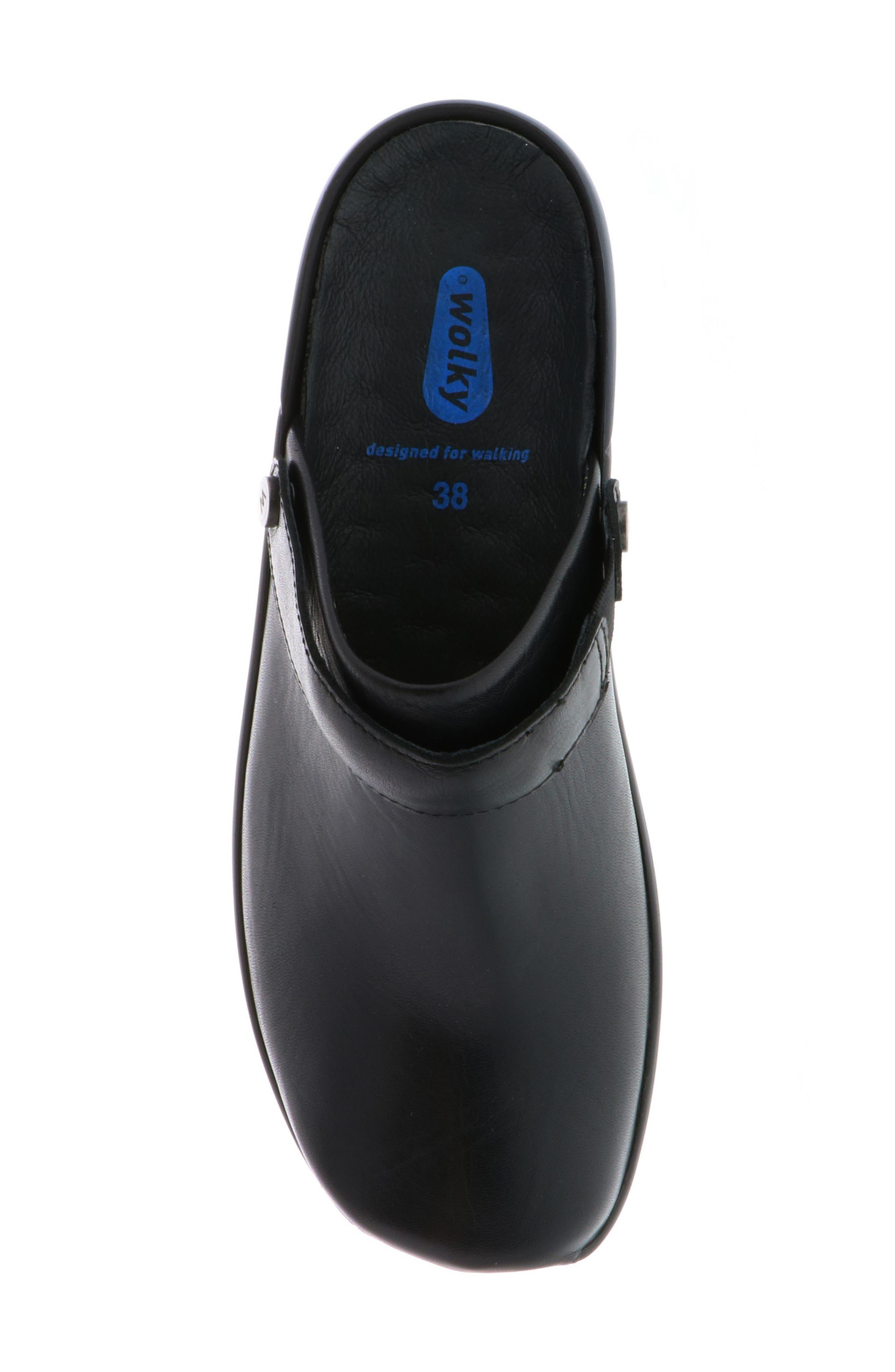 Bi Clog,                             Alternate thumbnail 5, color,                             Black Velvet Leather