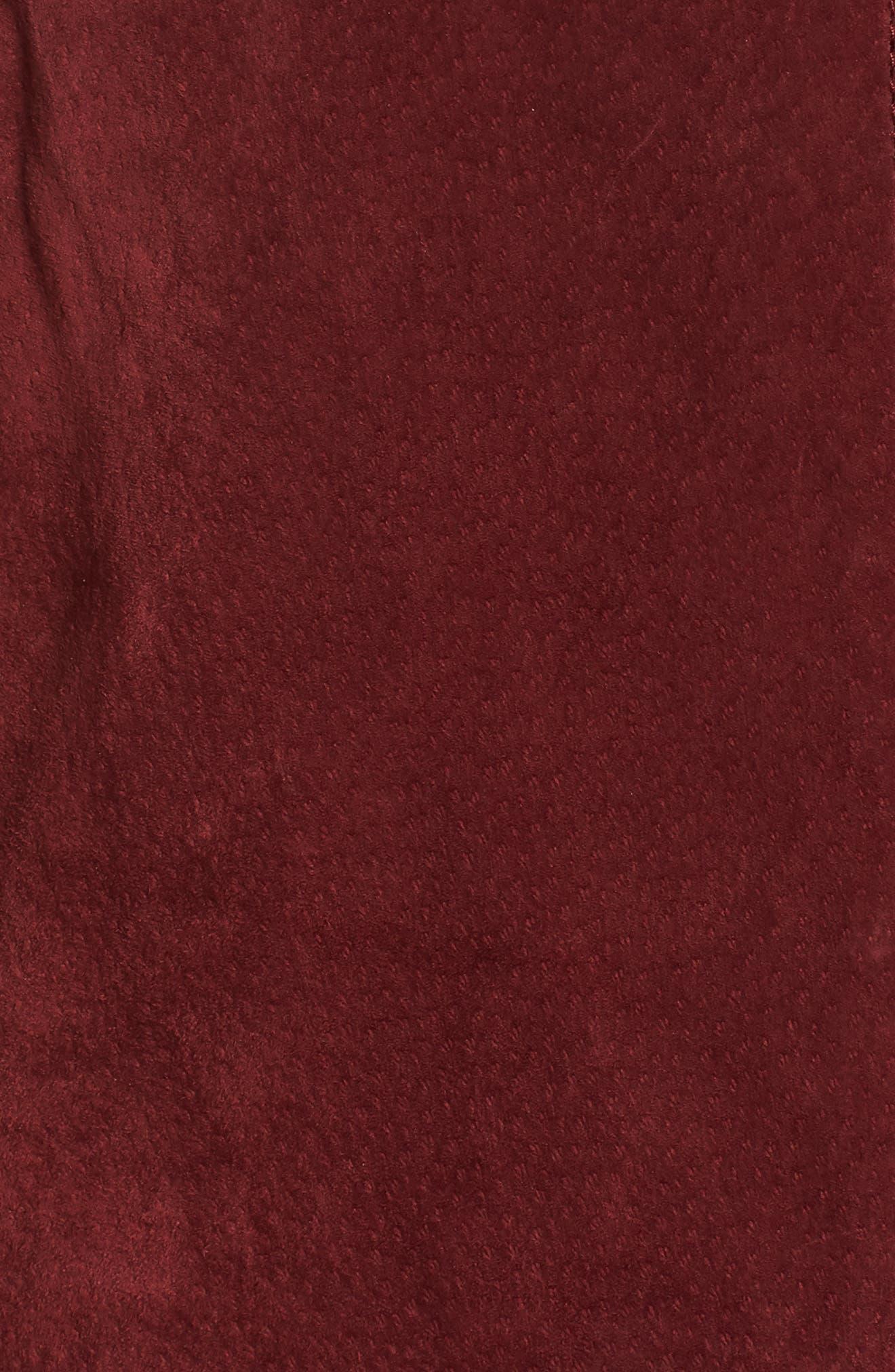 No Limit Suede Moto Jacket,                             Alternate thumbnail 6, color,                             Ruby