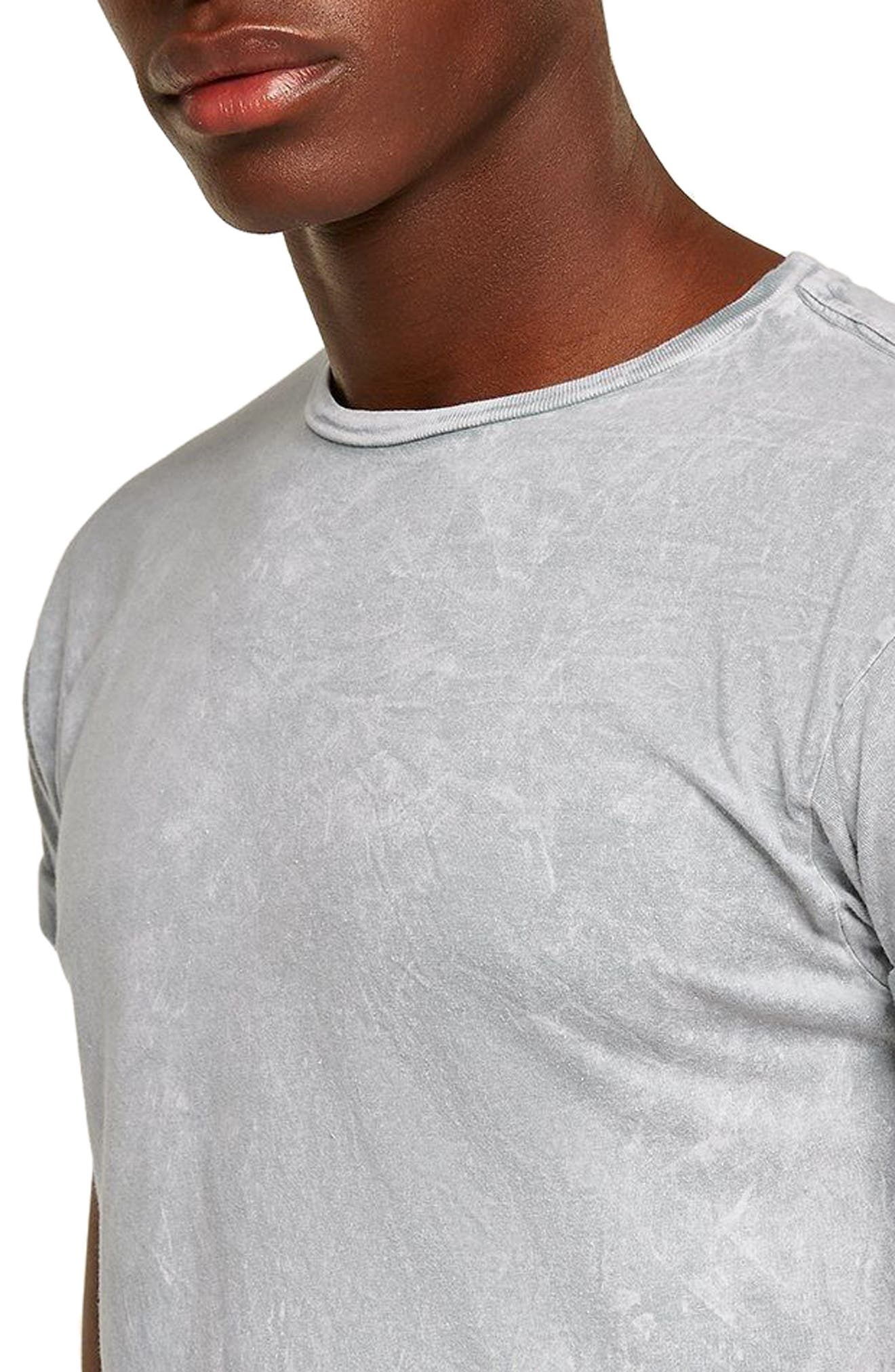 Crinkle Marble T-Shirt,                             Alternate thumbnail 3, color,                             Grey