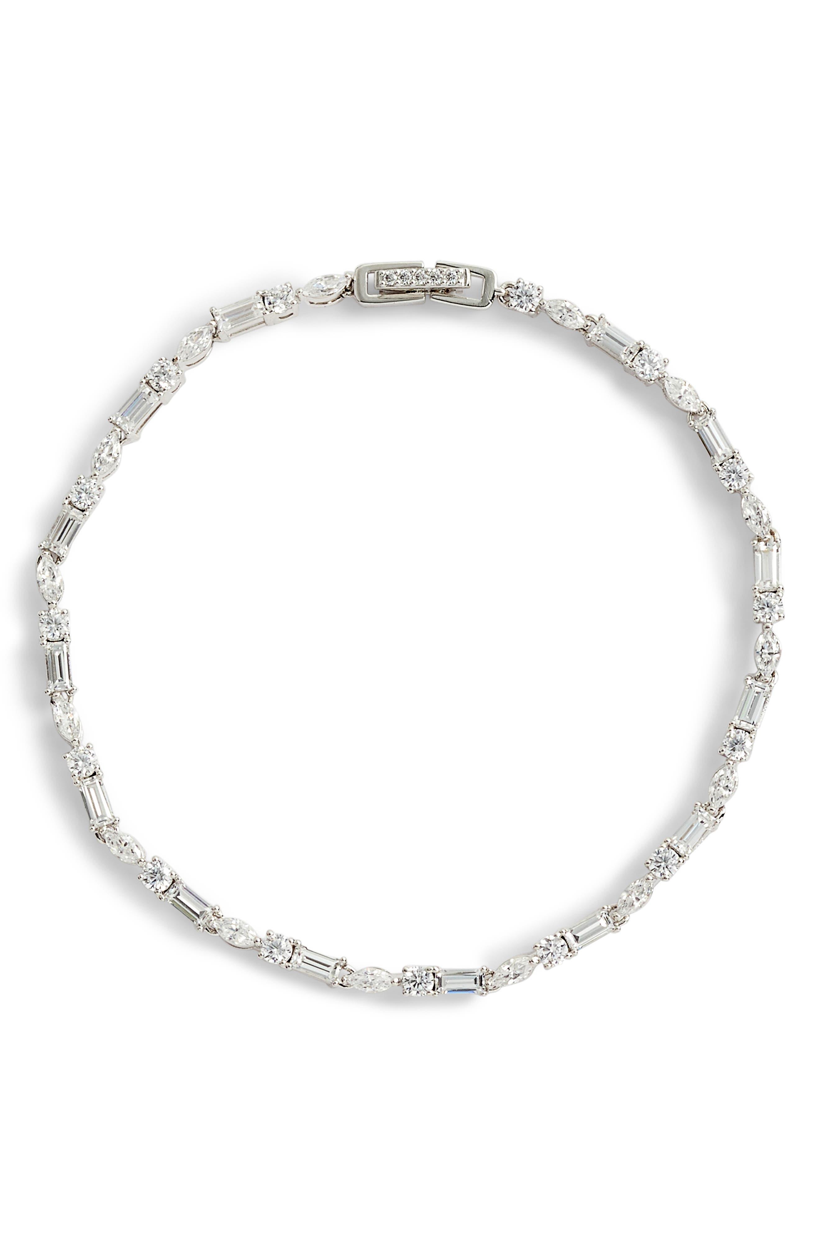 Fanfare Line Bracelet,                             Main thumbnail 1, color,                             Silver