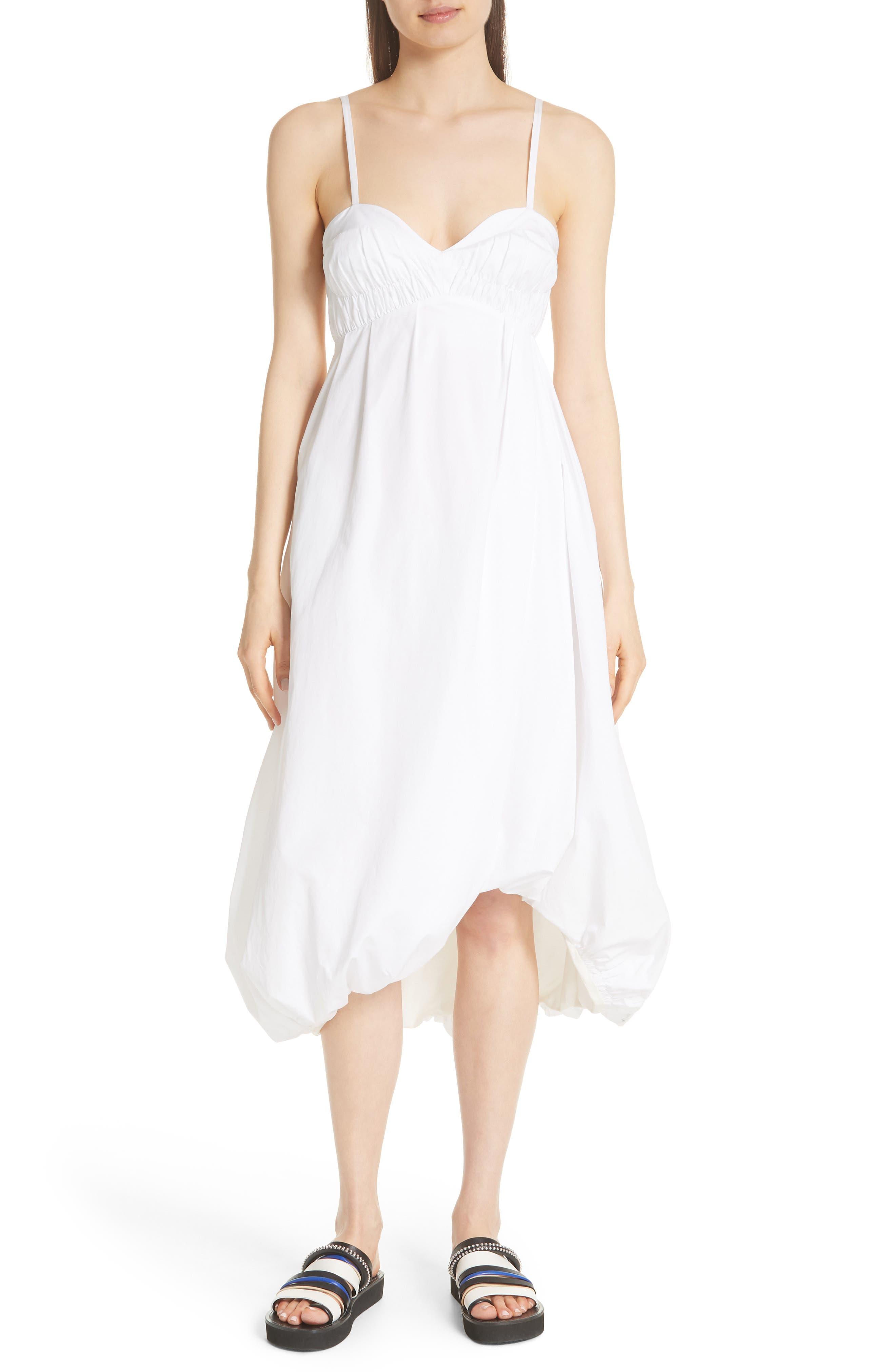 Bubble Hem Dress,                         Main,                         color, Optic White