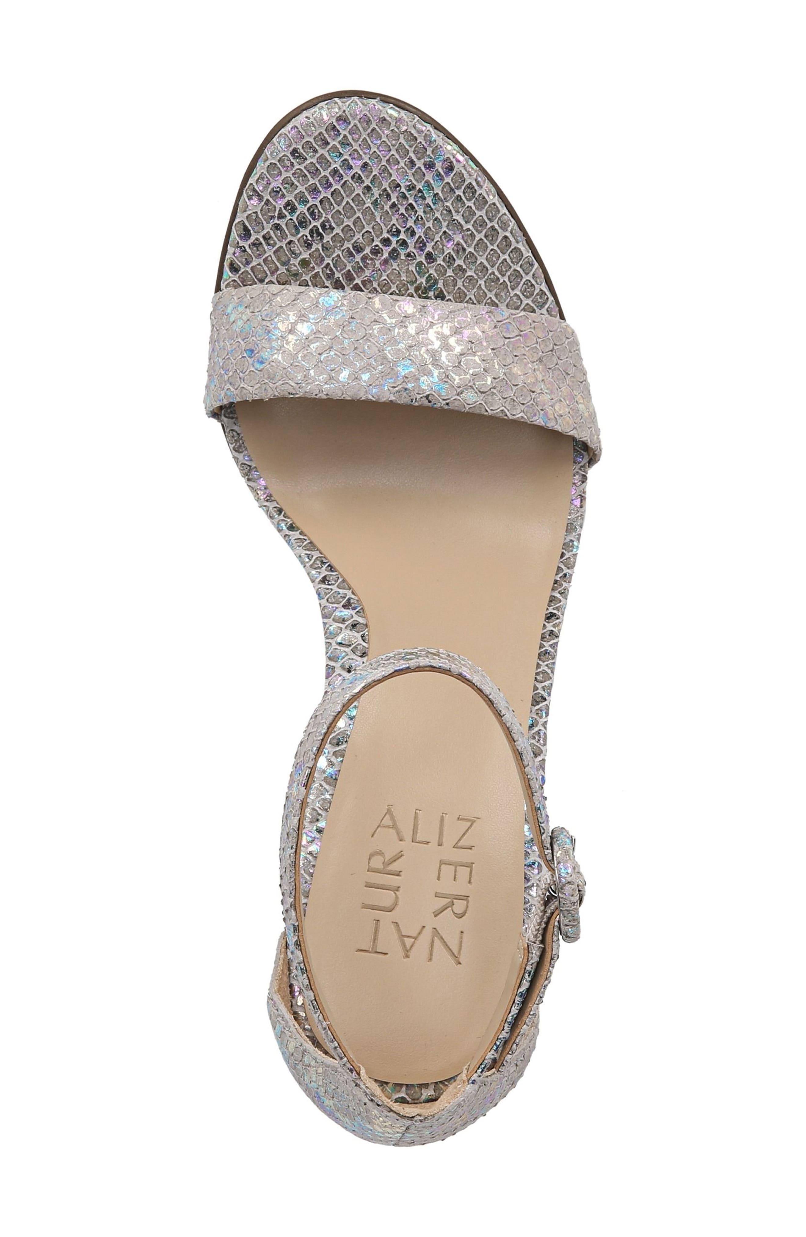 Kinsley Sandal,                             Alternate thumbnail 5, color,                             Silver Snake Leather