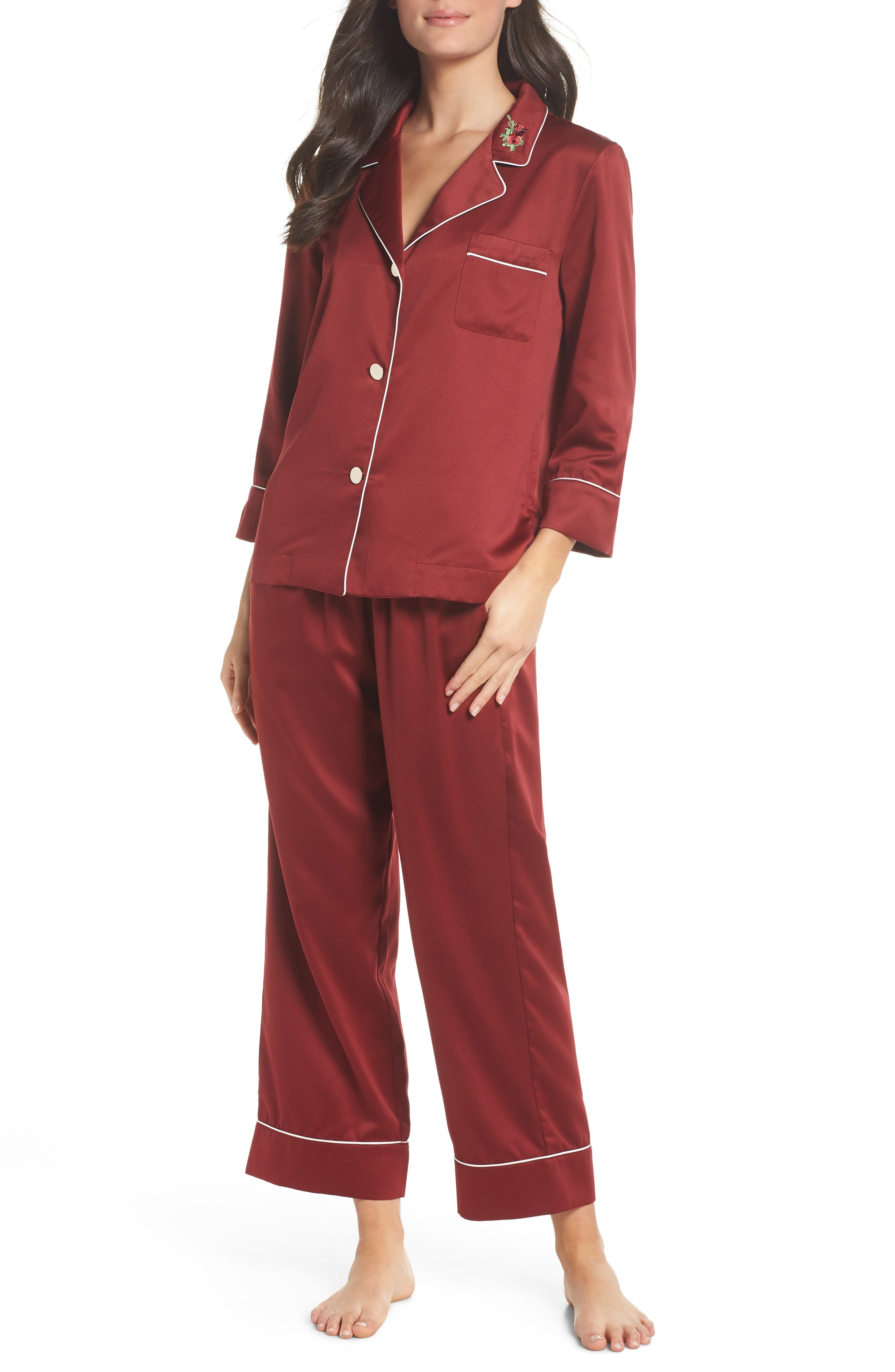 Bed to Brunch Cropped Satin Pajamas