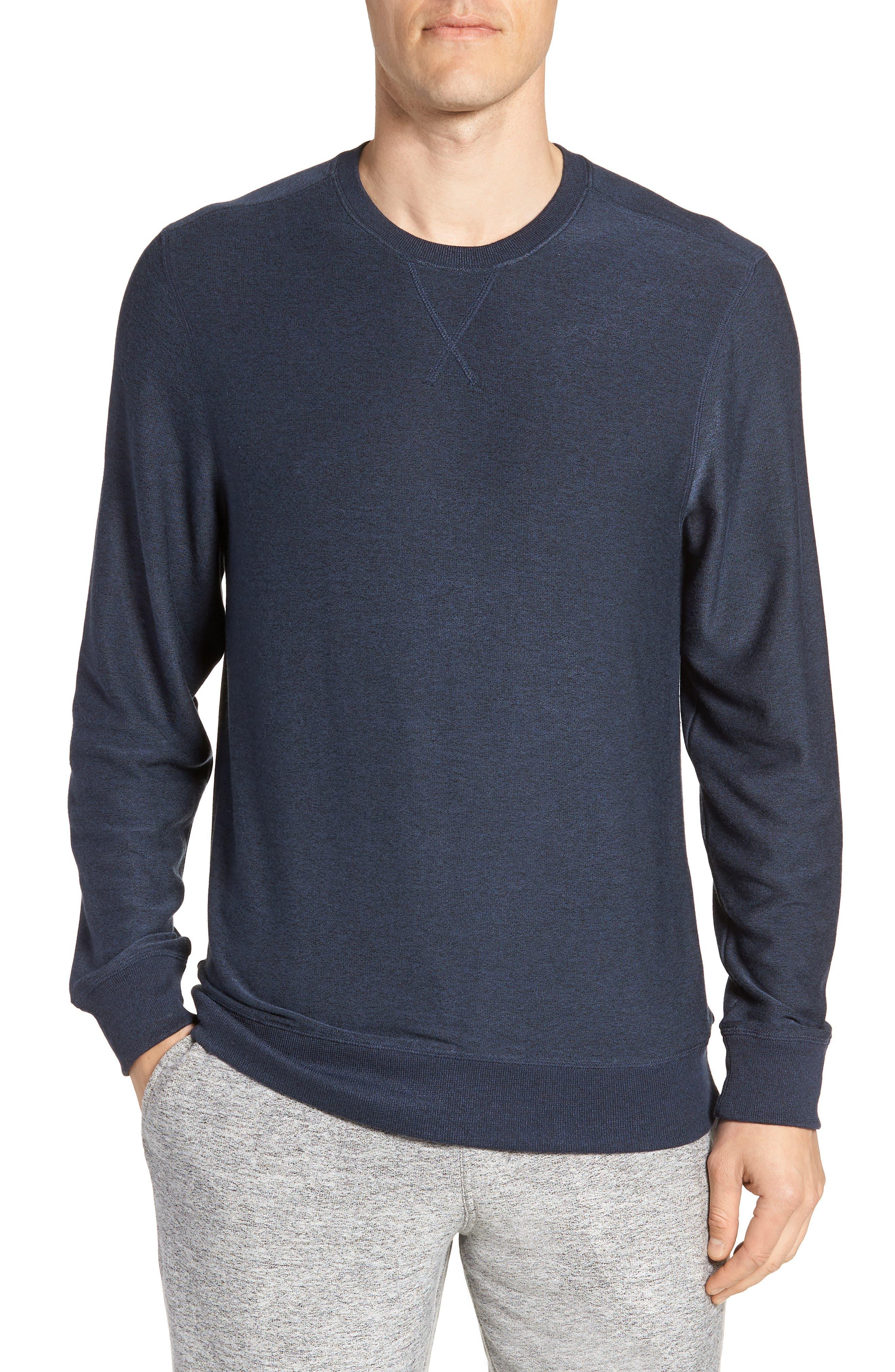 Ultra Soft Crewneck Sweatshirt,                         Main,                         color, Navy Indigo Marl