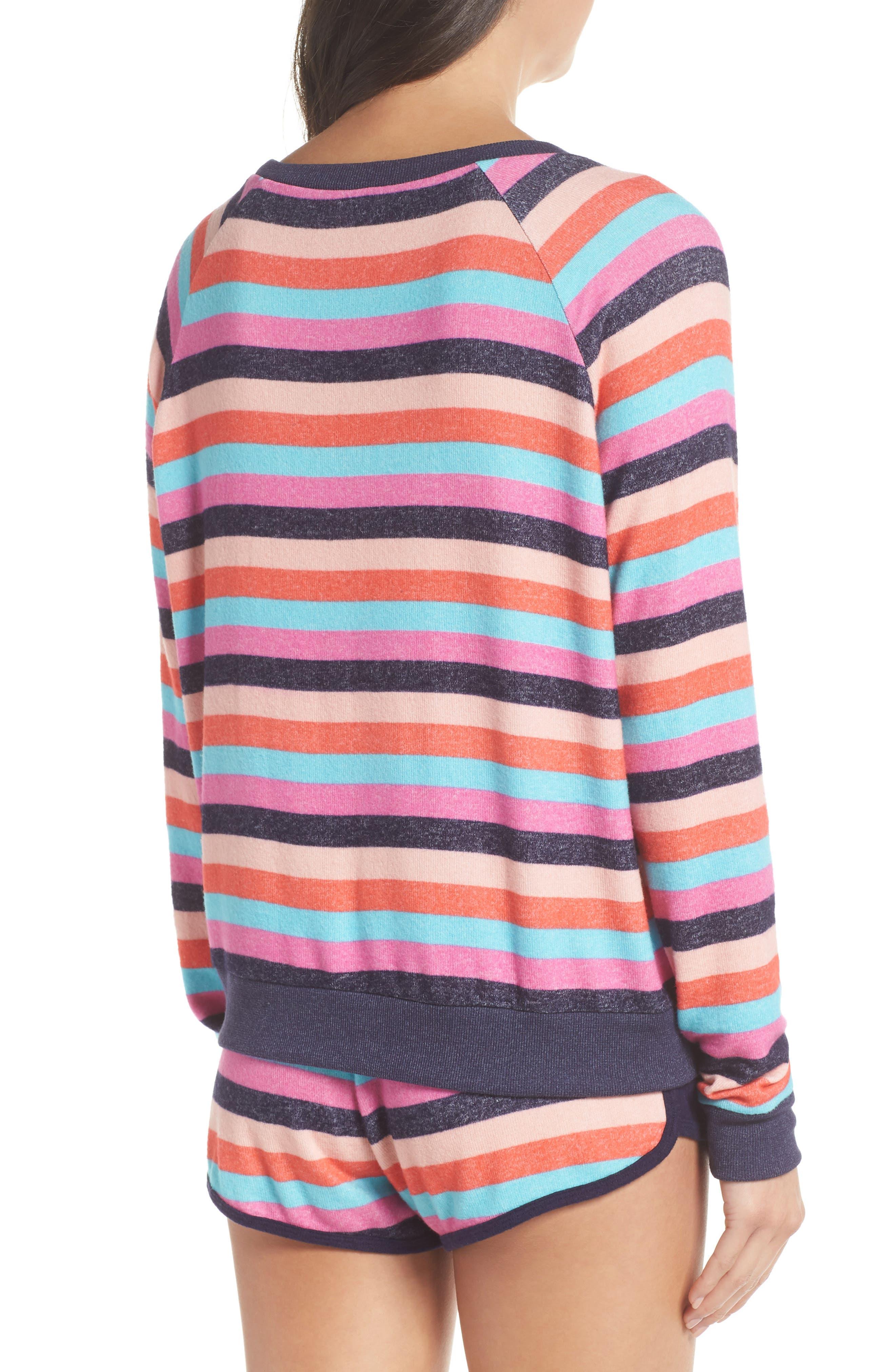 Cozy Crew Raglan Sweatshirt,                             Alternate thumbnail 2, color,                             Navy Dusk Milli Multi Stripe