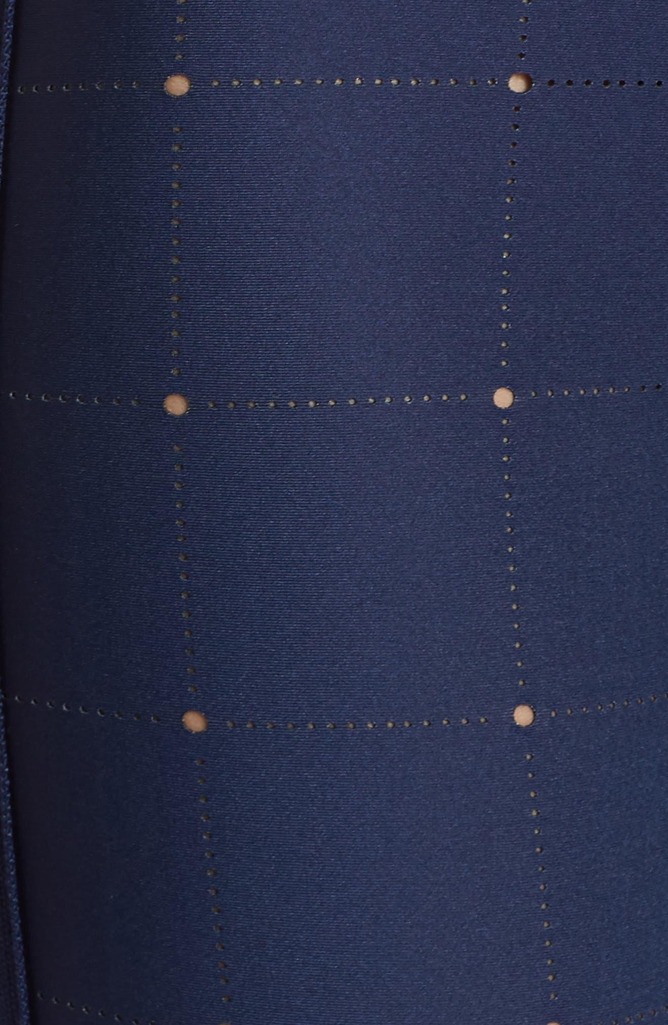 Ultra Quiltline Leggings,                             Alternate thumbnail 6, color,                             Indigo