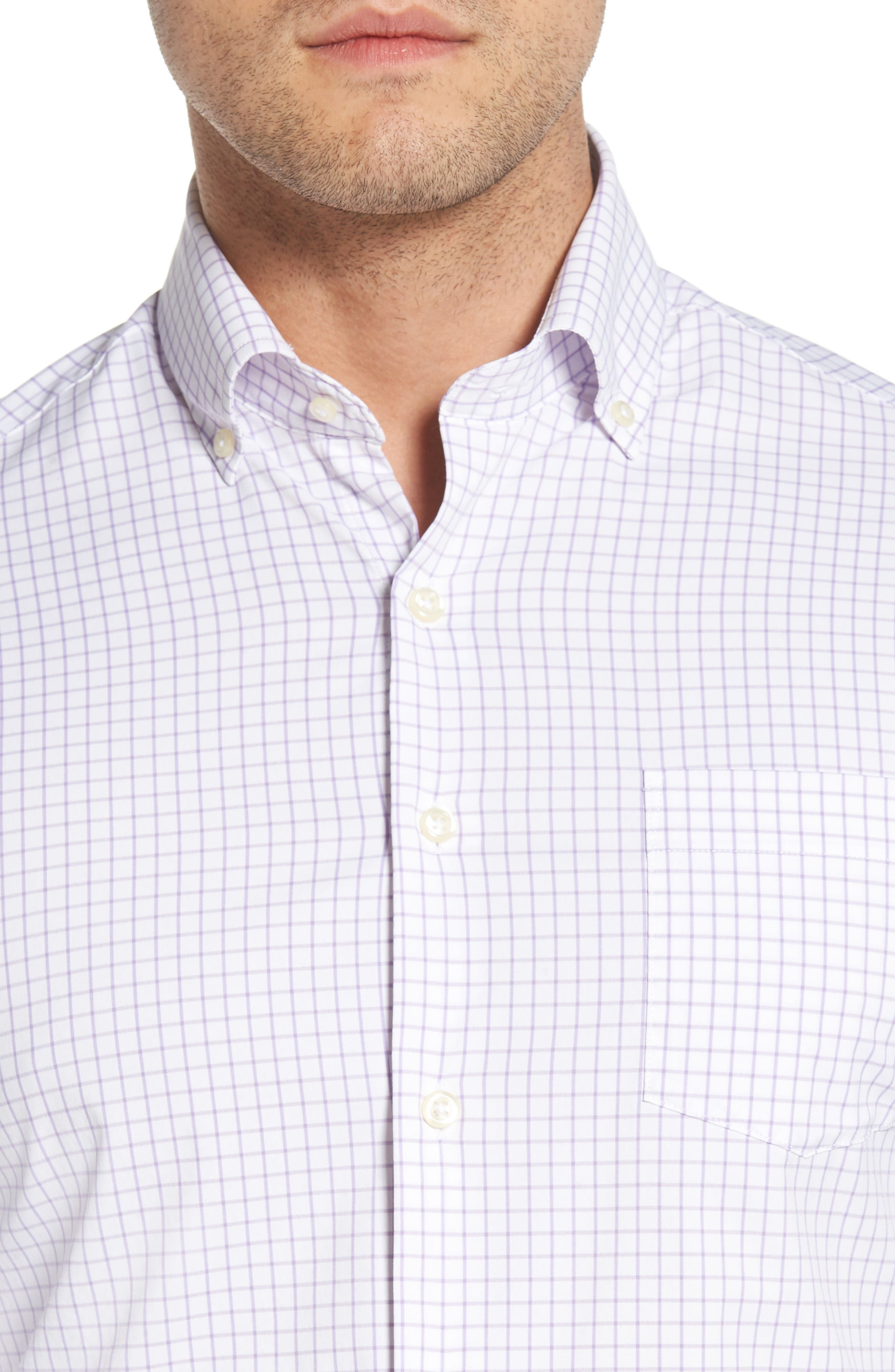 Captain Performance Tattersall Sport Shirt,                             Alternate thumbnail 2, color,                             Muscadine