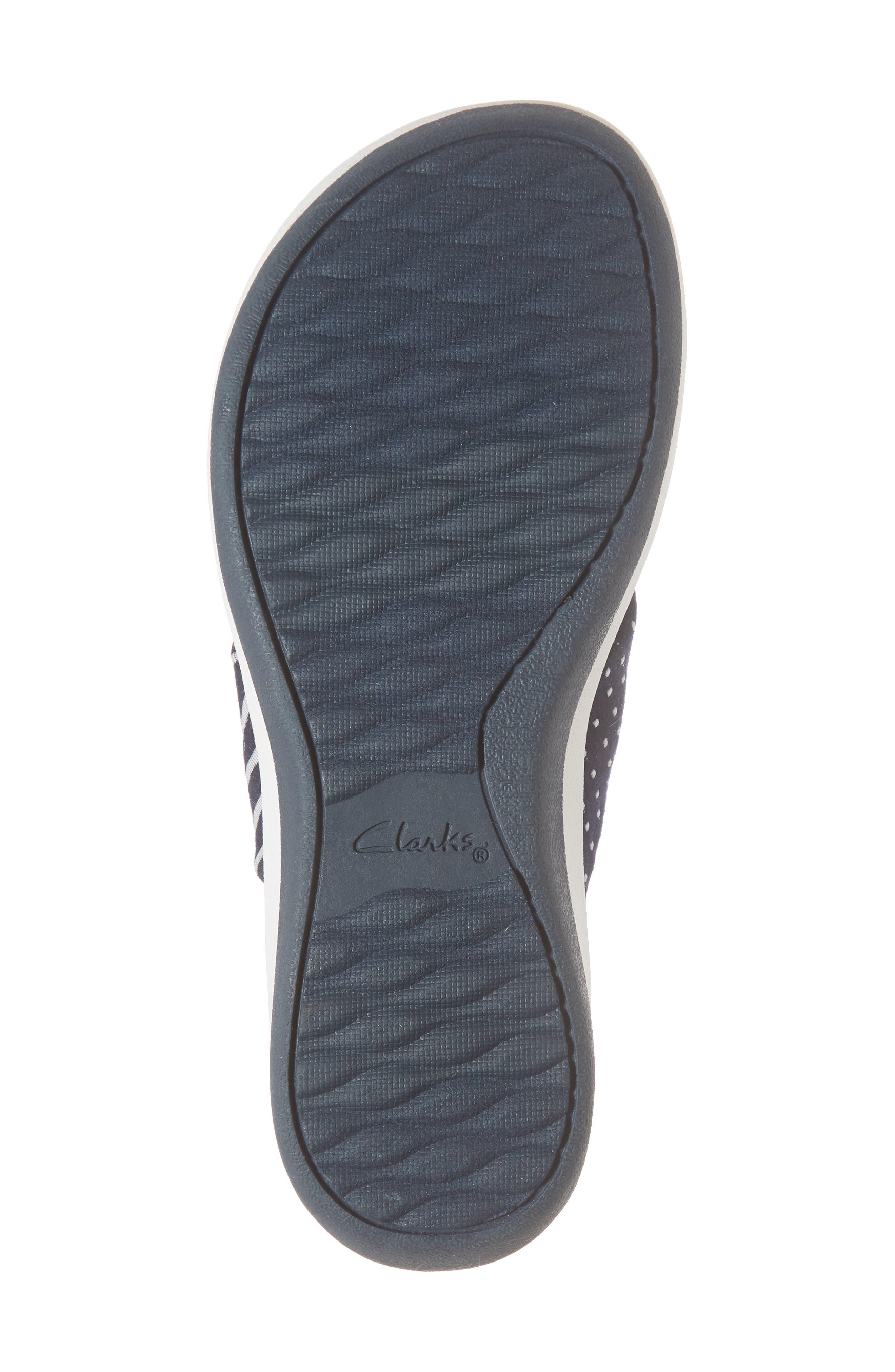 Arla Glison Flip Flop,                             Alternate thumbnail 6, color,                             Navy Fabric