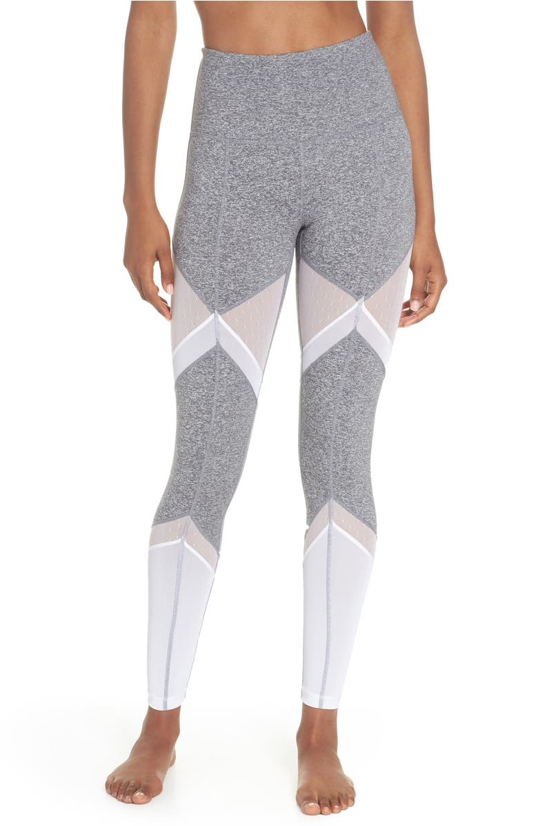 Sun Salutation High Waist Leggings,                         Main,                         color, Grey Graphite