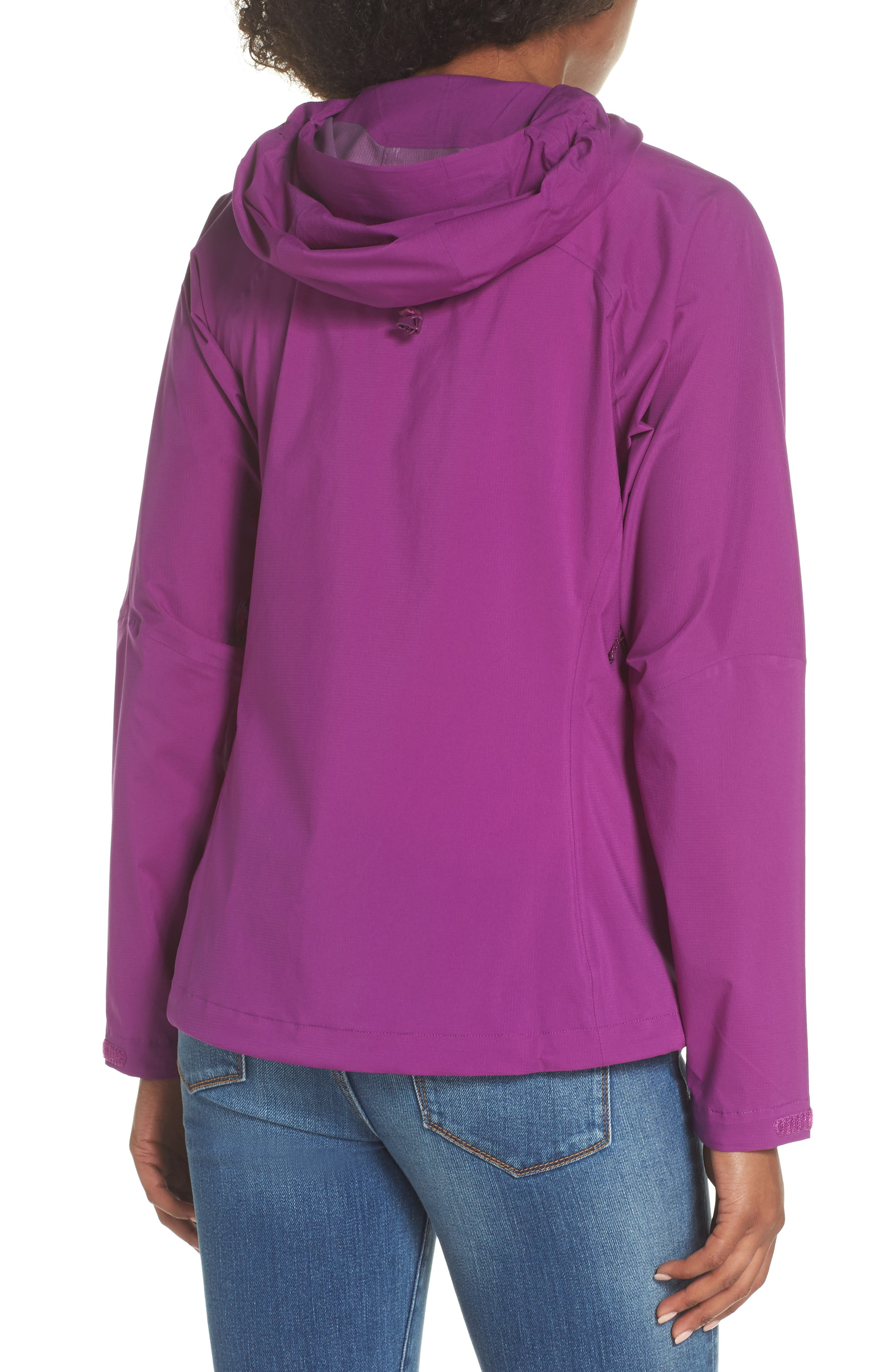 Stretch Rainshadow Jacket,                             Alternate thumbnail 2, color,                             Ikat Purple