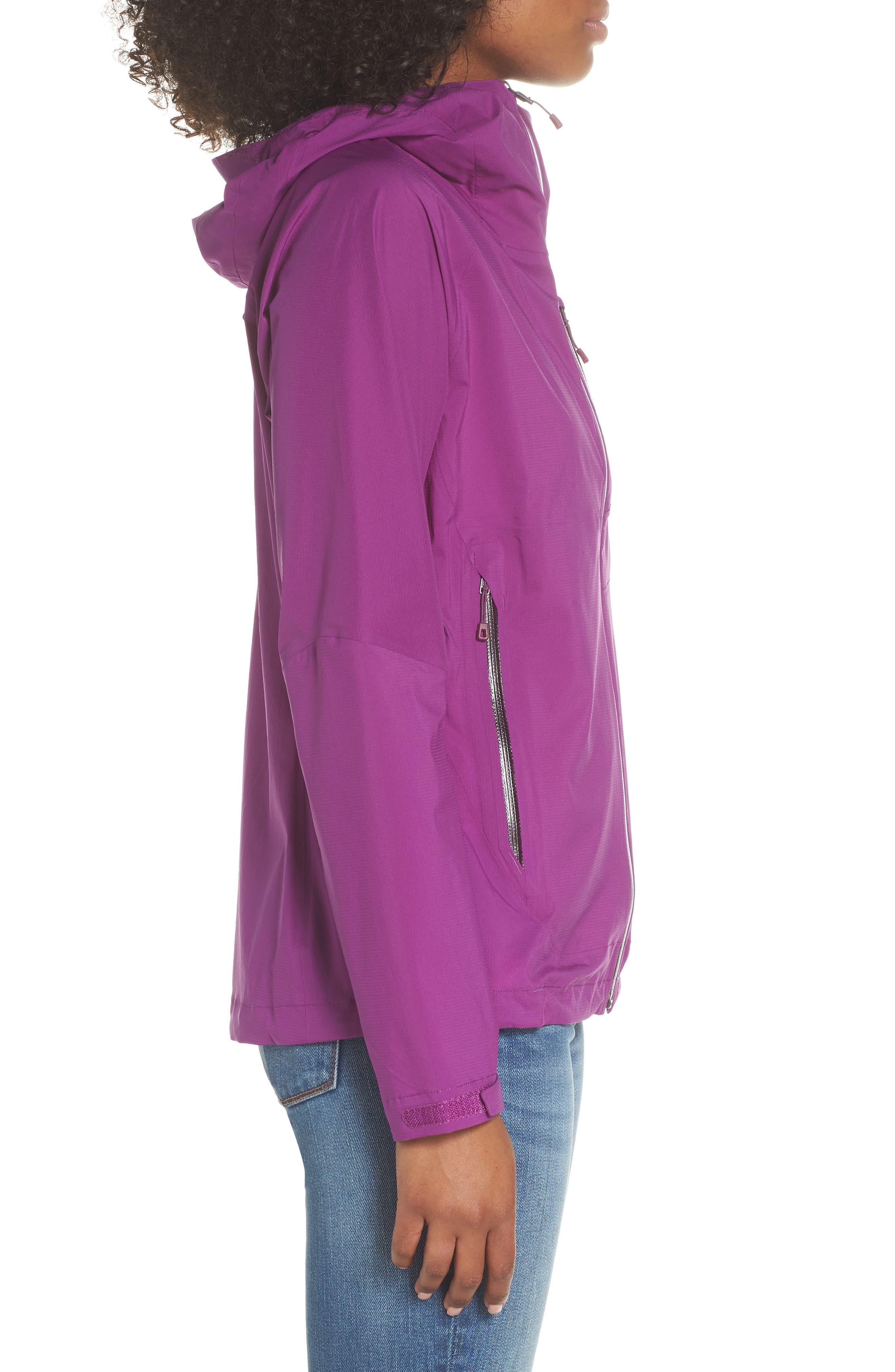 Stretch Rainshadow Jacket,                             Alternate thumbnail 3, color,                             Ikat Purple