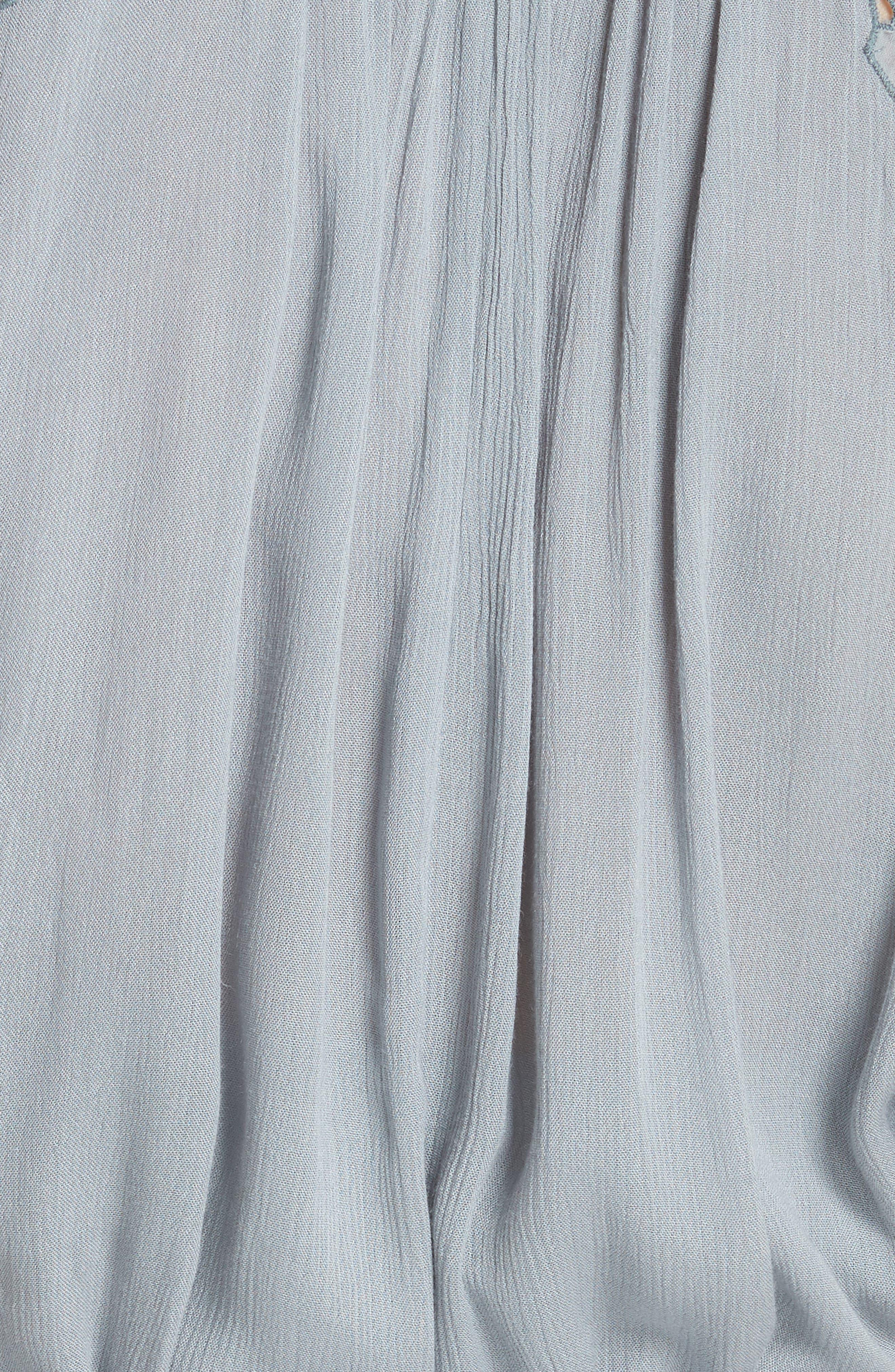 Cut It Out Midi Shirtdress,                             Alternate thumbnail 6, color,                             Blue