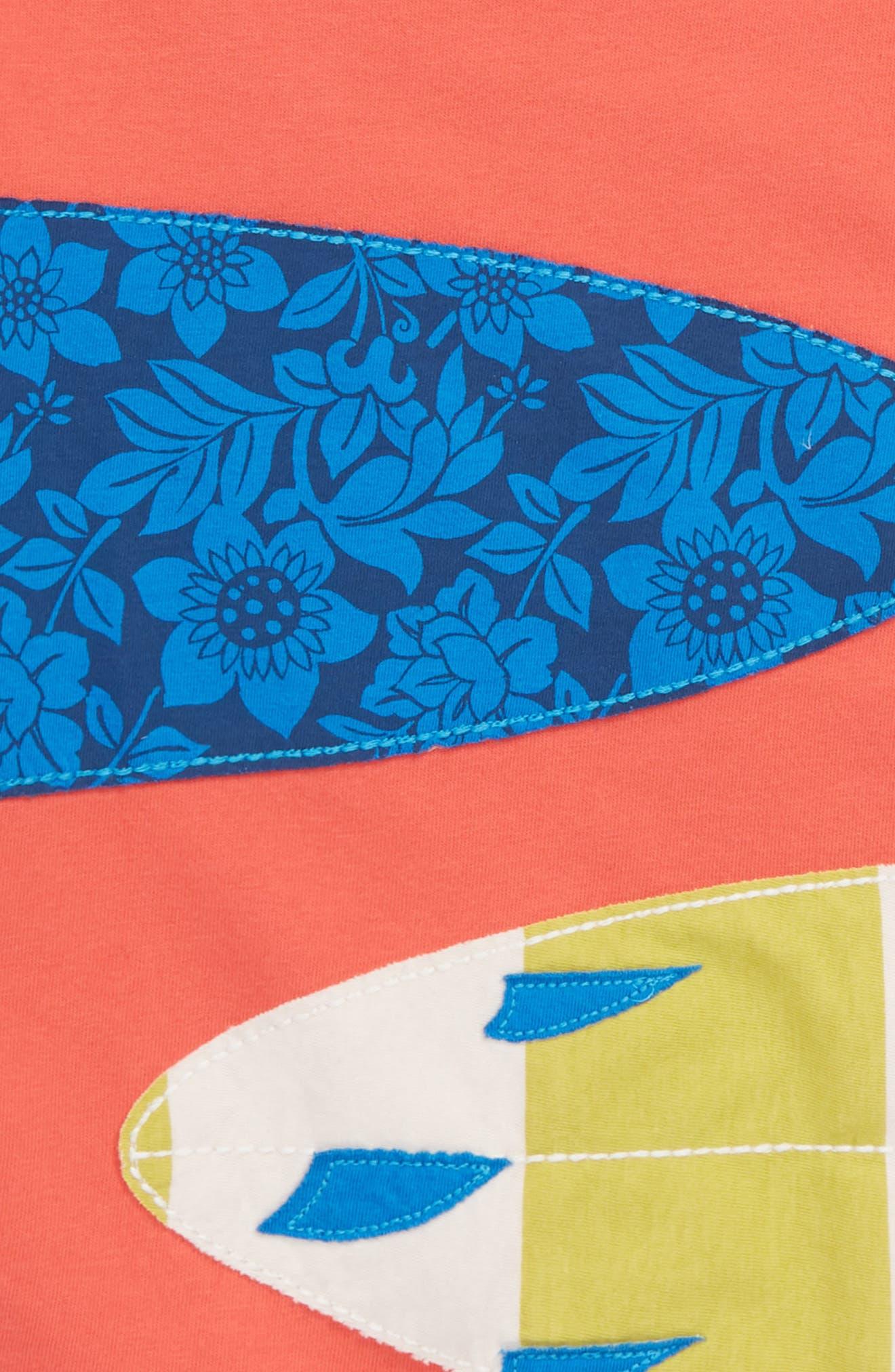 Appliqué T-Shirt,                             Alternate thumbnail 2, color,                             Jam Red Surfboards