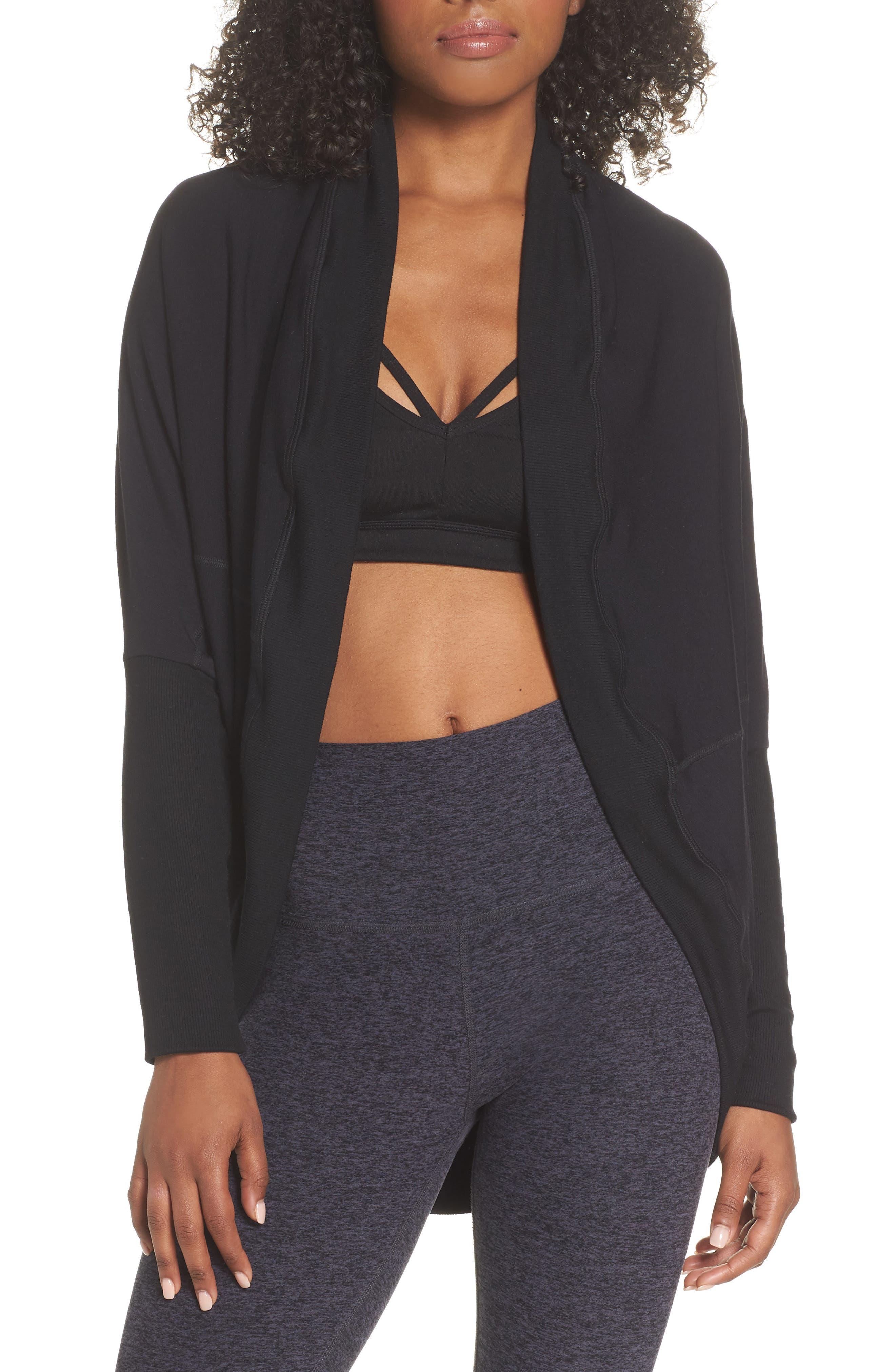'Cozy' Convertible Fleece Pullover,                             Alternate thumbnail 2, color,                             Black