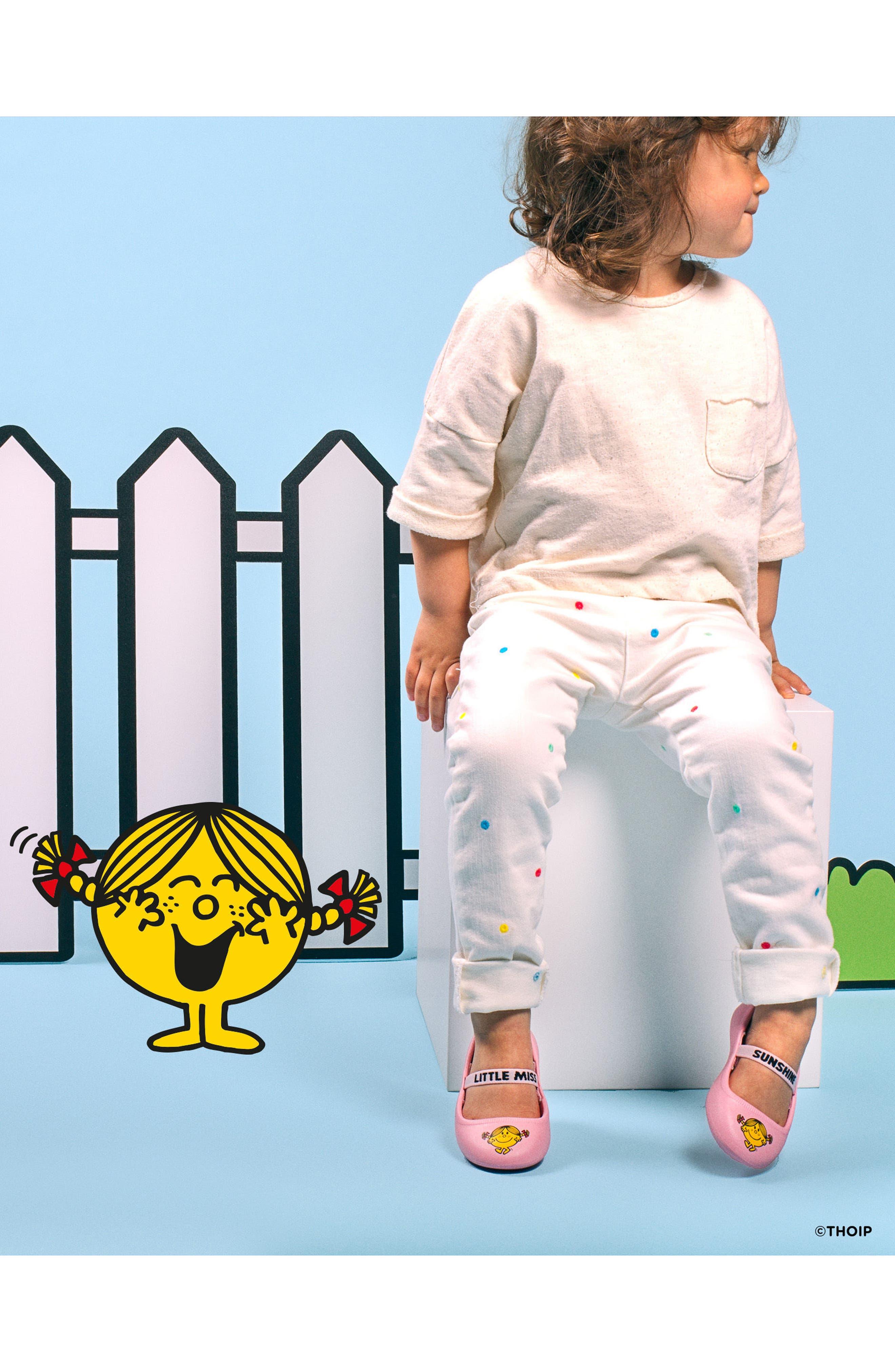 Margot Mary Jane Flat,                             Alternate thumbnail 3, color,                             Pink/ Little Miss Sunshine