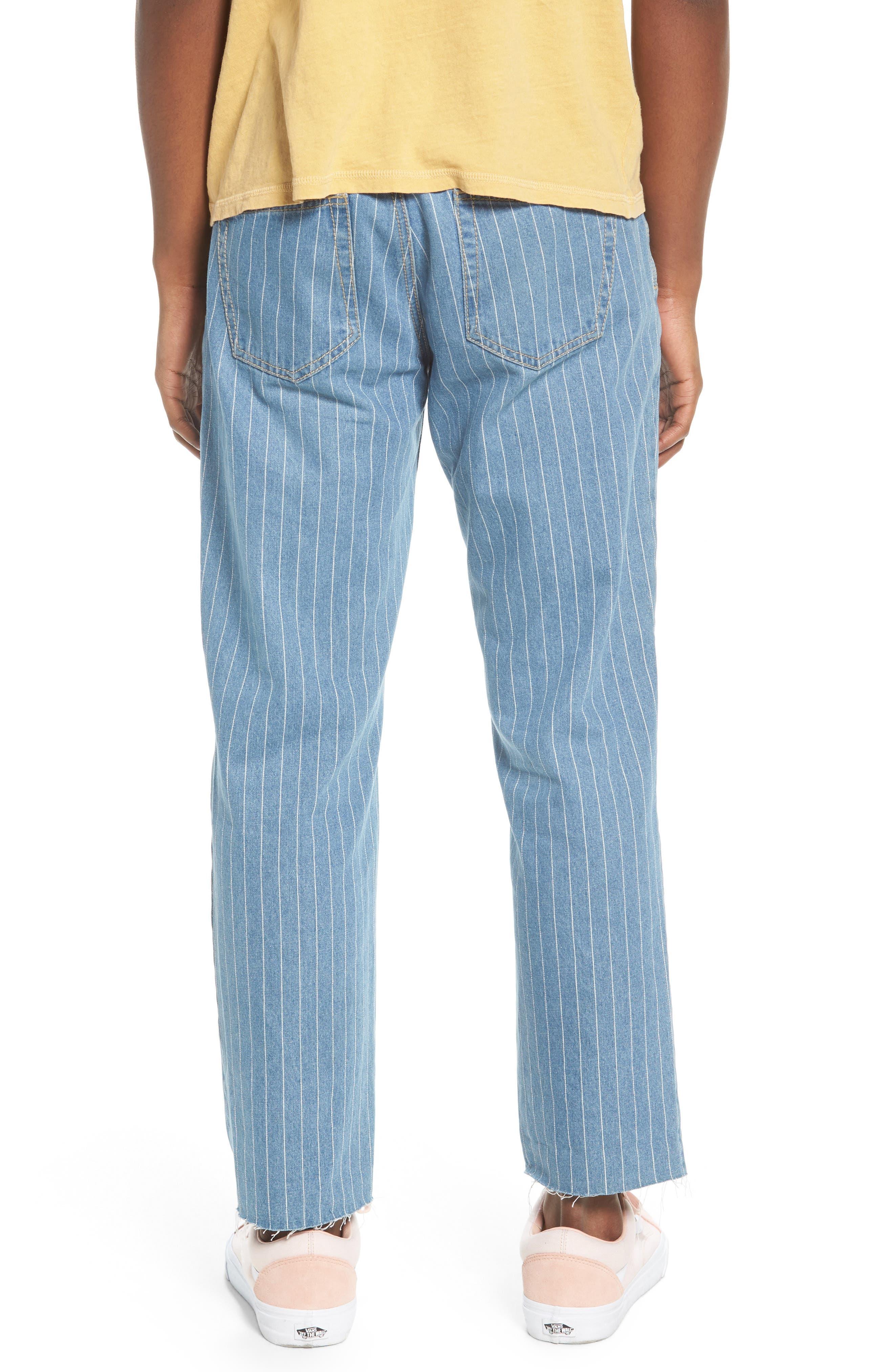 B. Relaxed Jeans,                             Alternate thumbnail 2, color,                             Stripe Denim Crop