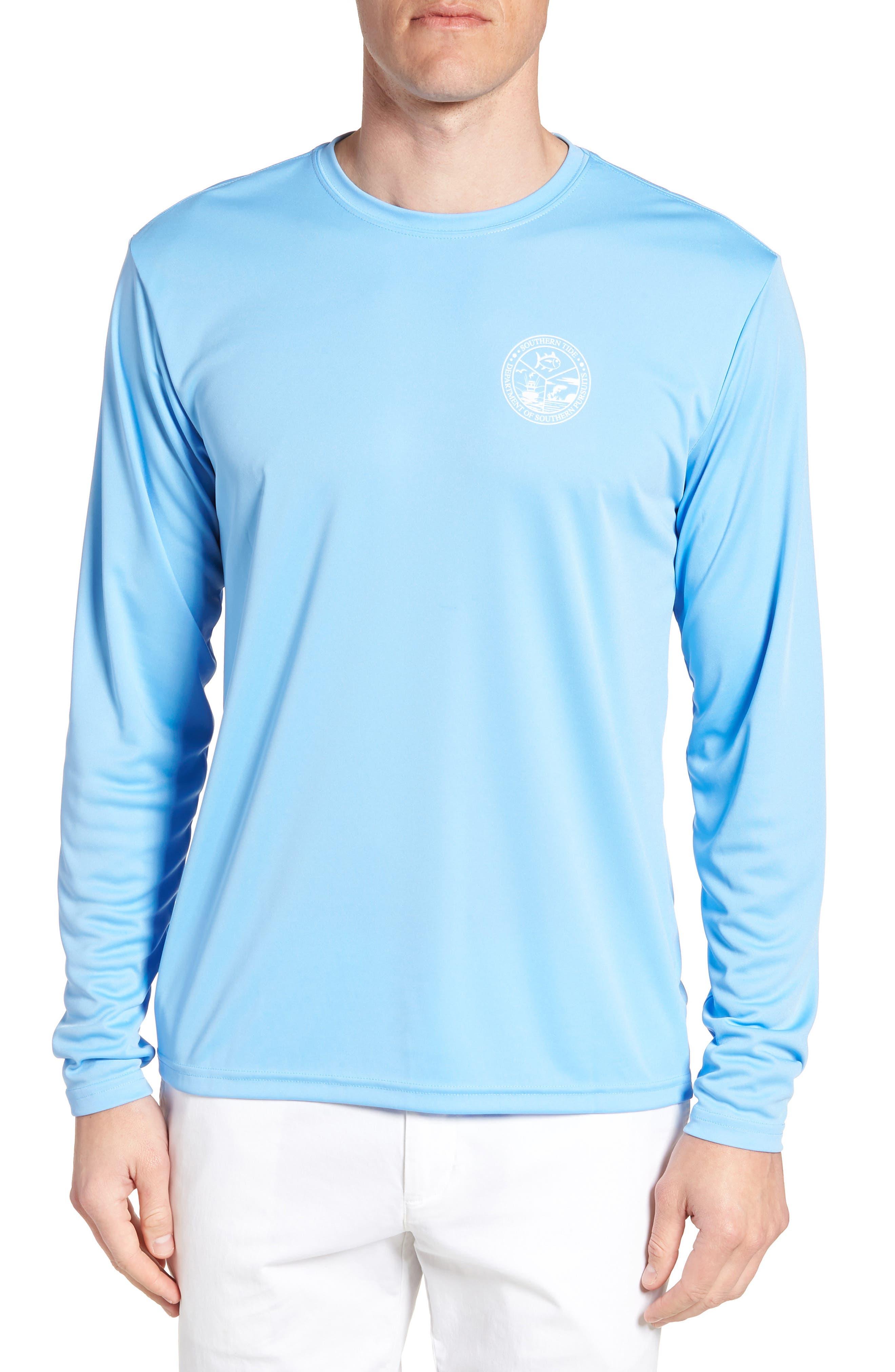 Southern Pursuit Performance T-Shirt,                             Main thumbnail 1, color,                             Ocean Channel