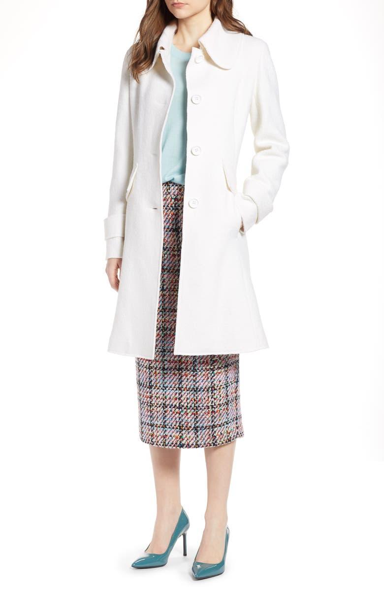 Boiled Wool Blend Fit  Flare Coat