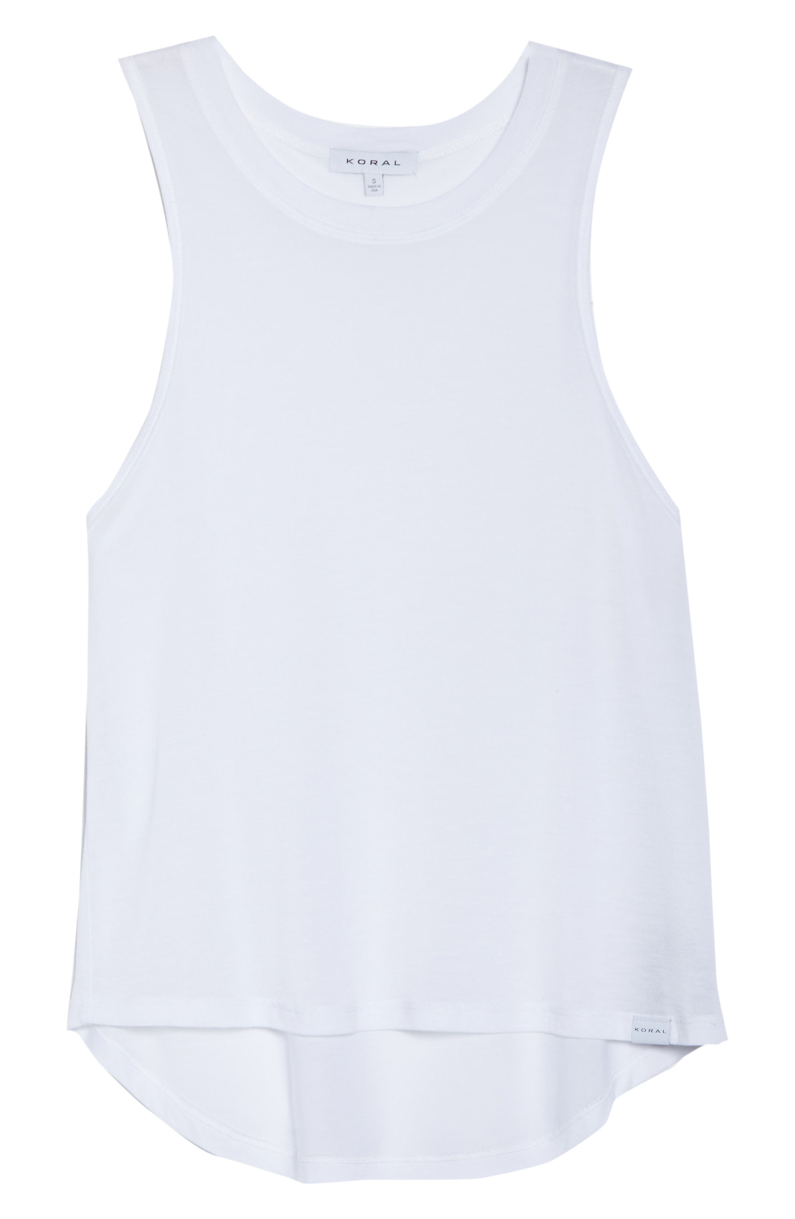 Crop Muscle Tee,                             Alternate thumbnail 3, color,                             White