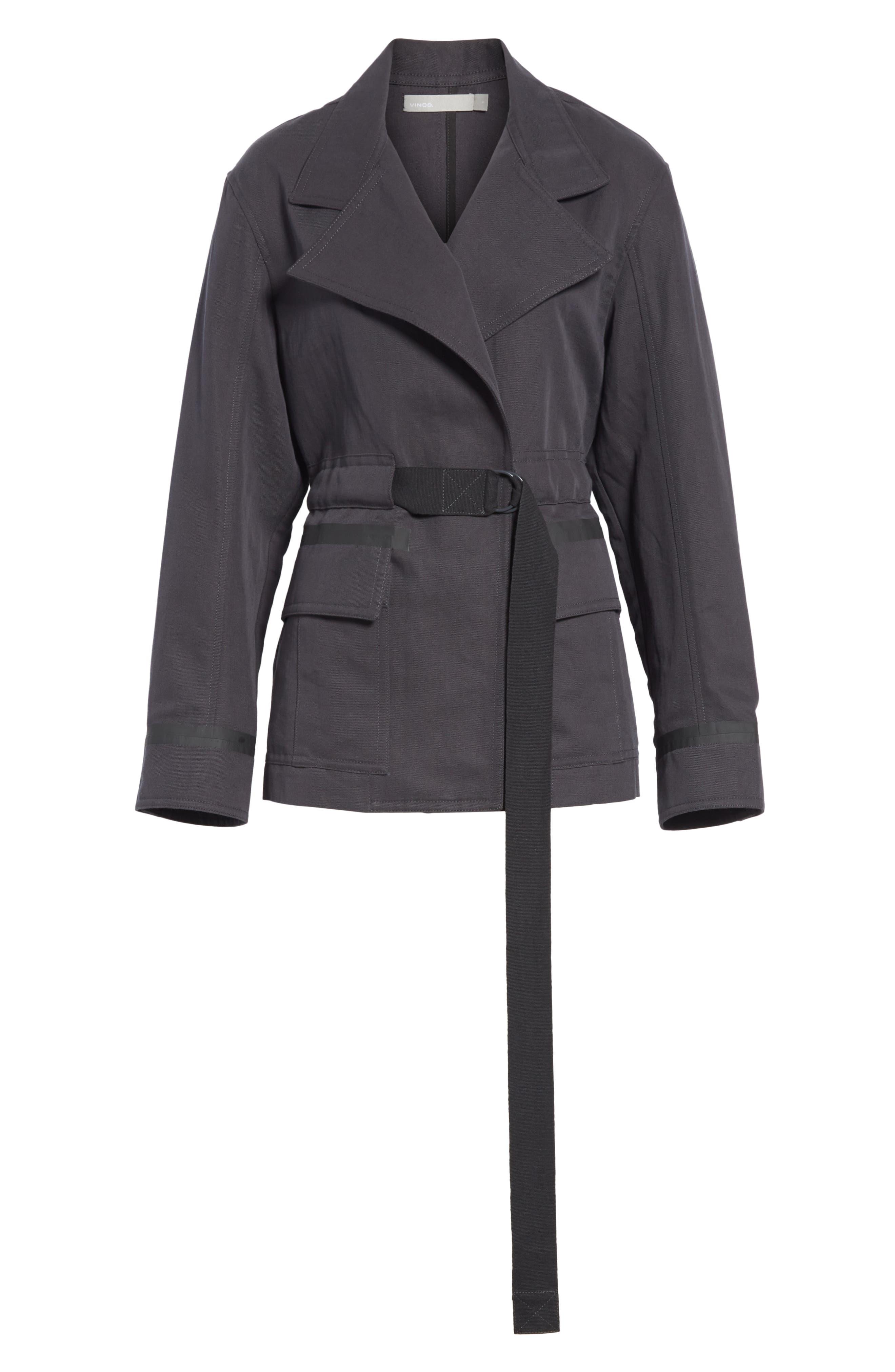 Belted Utility Jacket,                             Alternate thumbnail 6, color,                             Slate