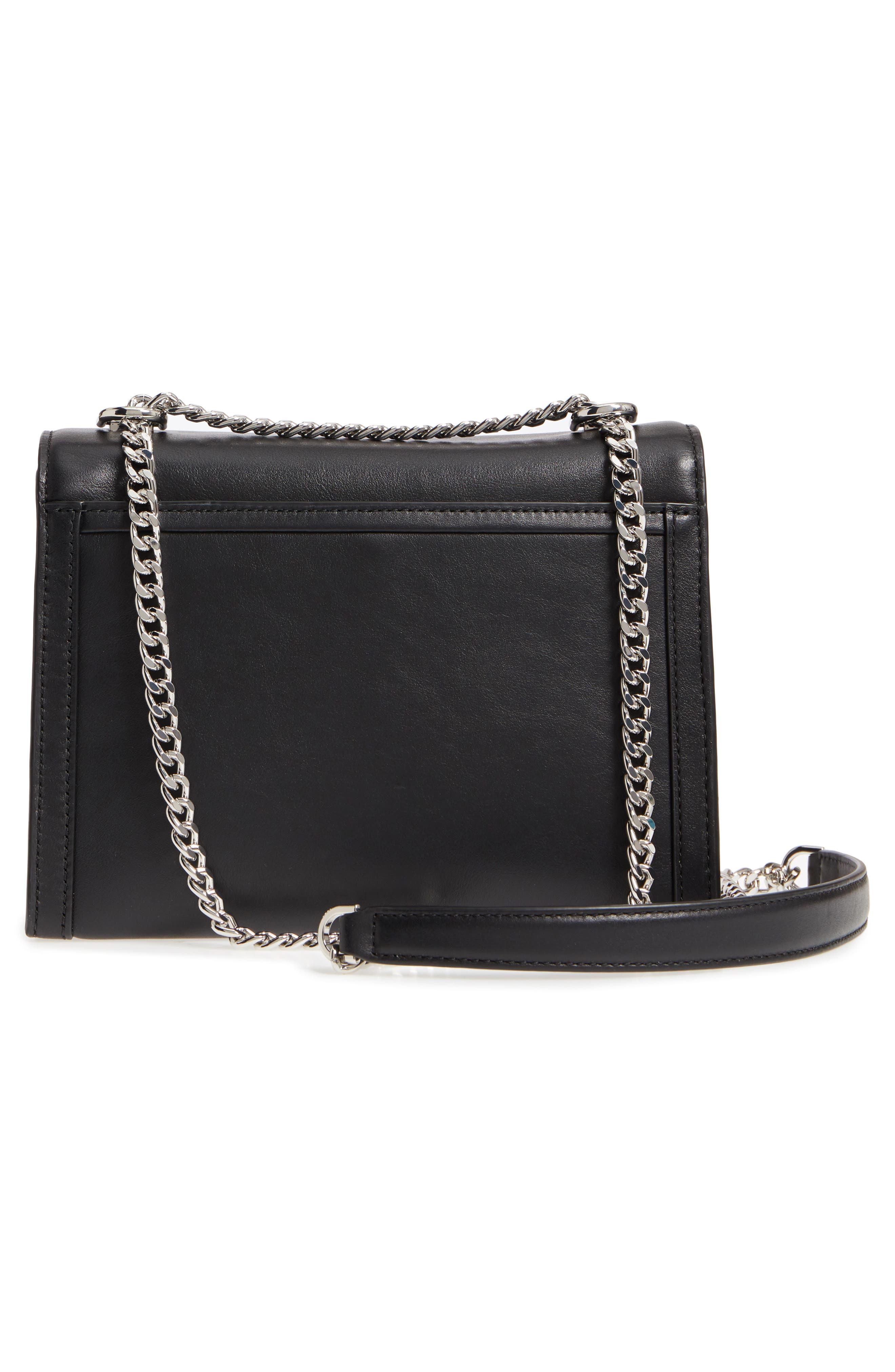 Large Whitney Leather Shoulder Bag,                             Alternate thumbnail 3, color,                             Black