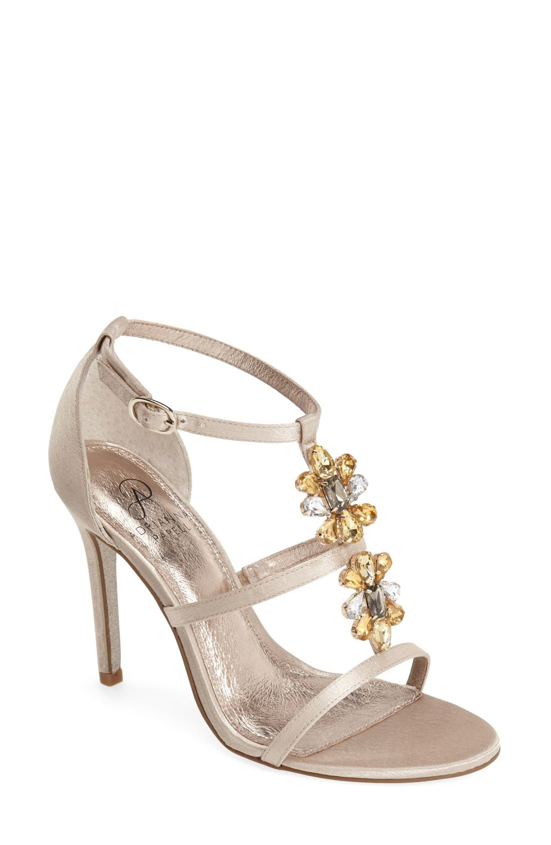 Alternate Image 1 Selected - Adrianna Papell 'Daphne' Jeweled Strappy Sandal (Women)