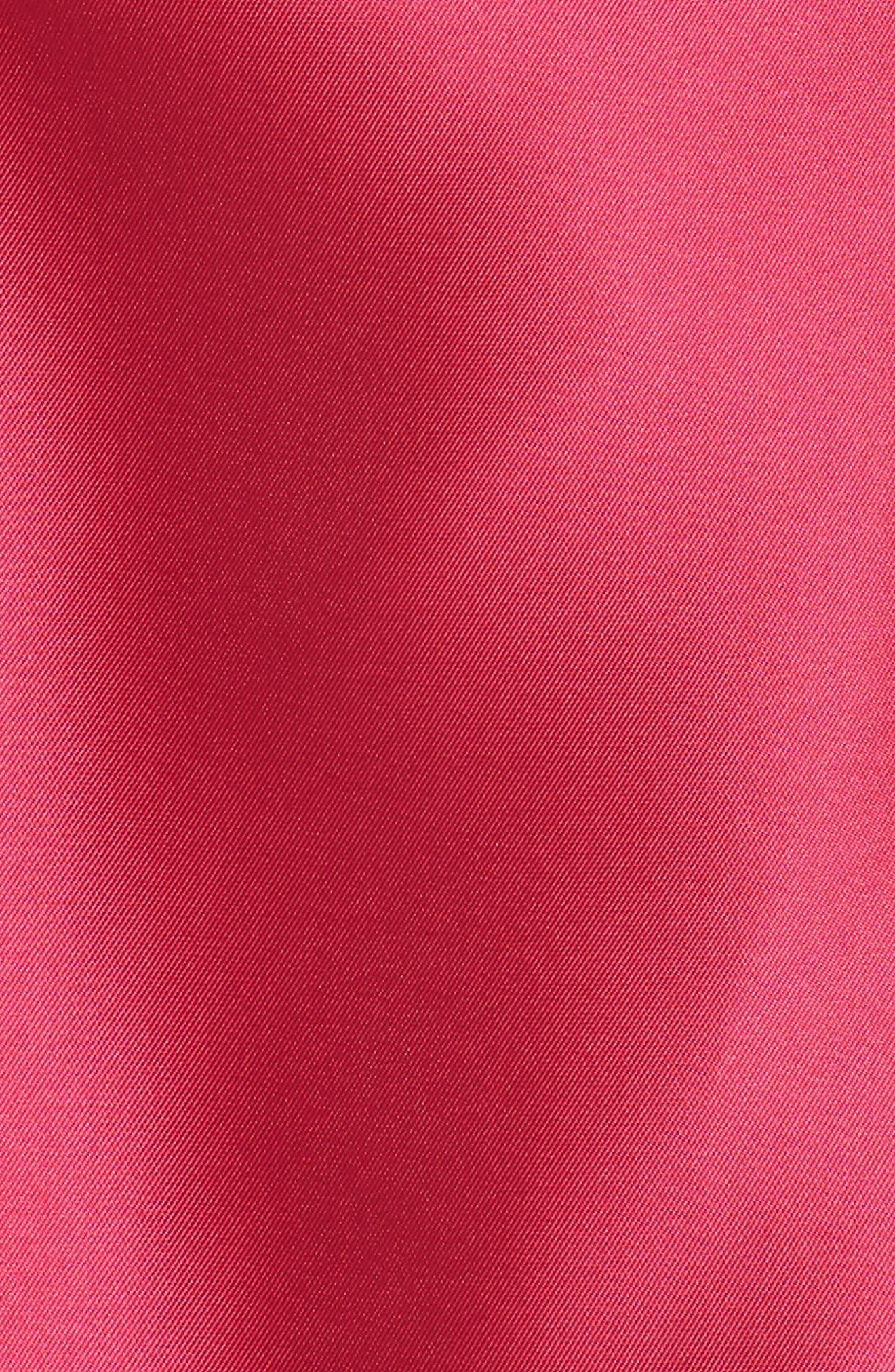 Arcadia Sleeveless High/Low Mikado Ballgown,                             Alternate thumbnail 6, color,                             Geranium