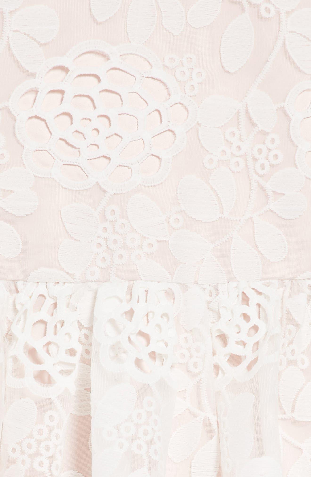 Primrose Lace Dress,                             Alternate thumbnail 3, color,                             Orchid White