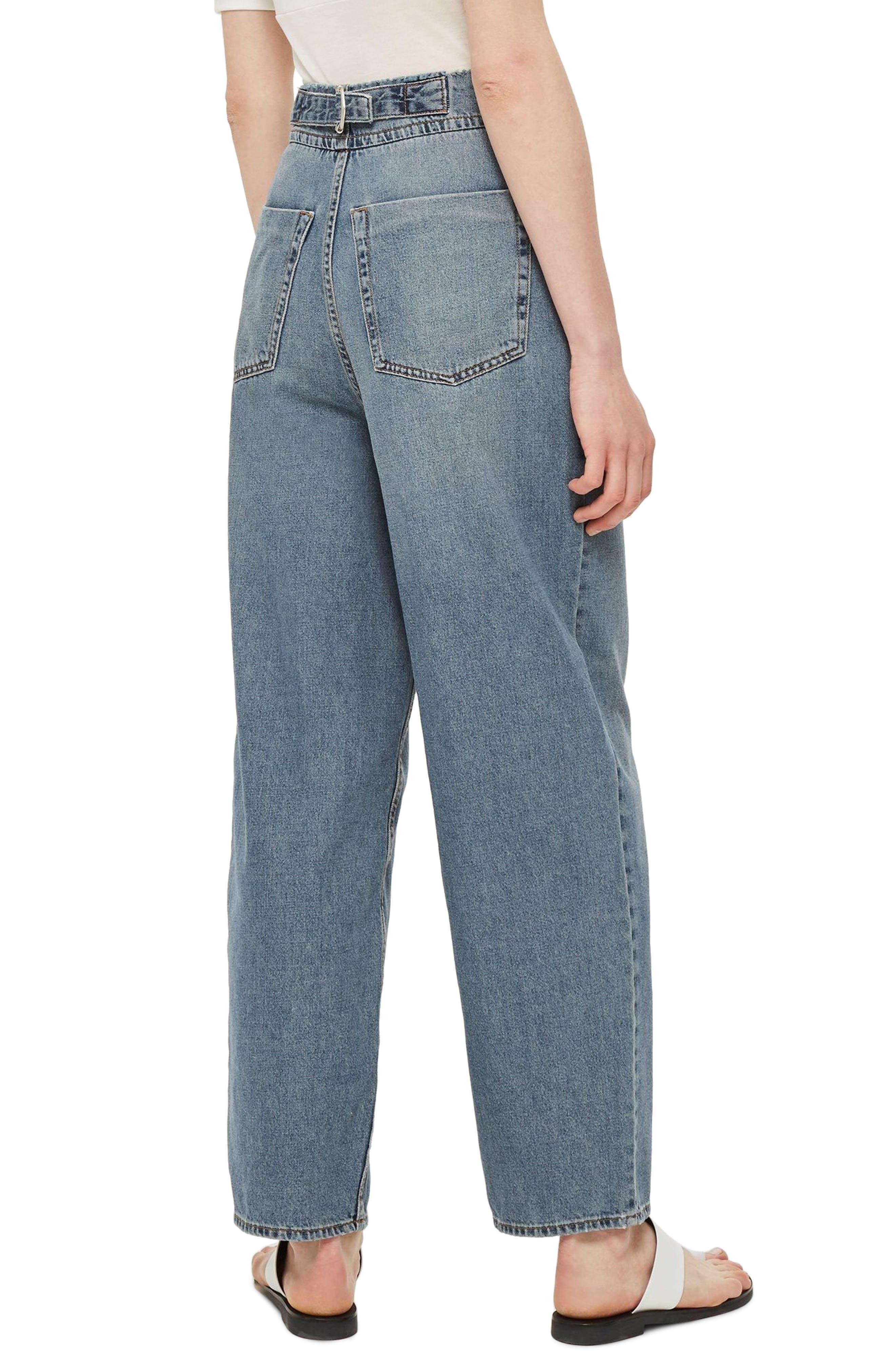 Slouch Cinch Jeans,                             Alternate thumbnail 3, color,                             Blue