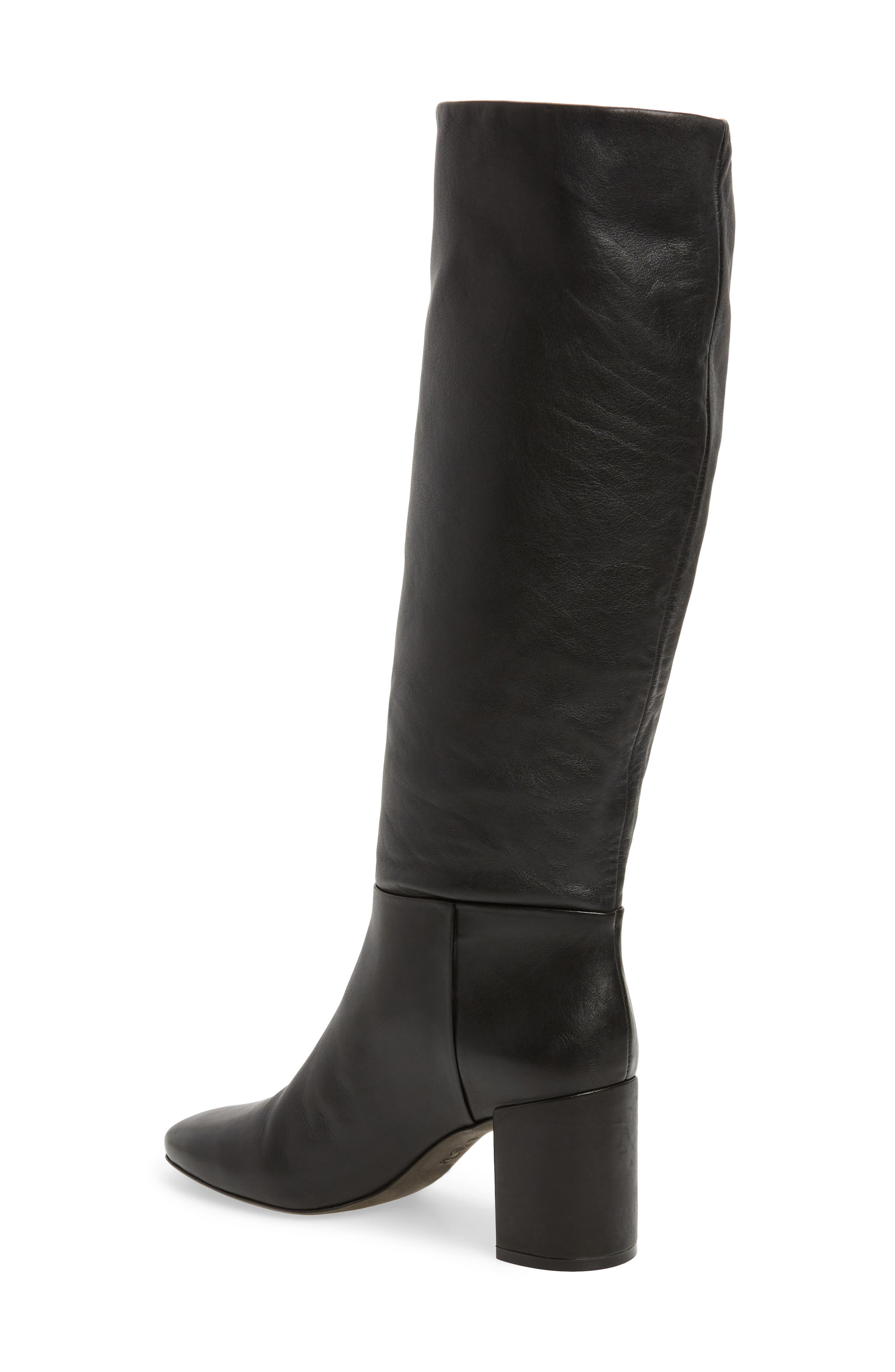 Chained Knee Length Boots With Platform Black WS91162