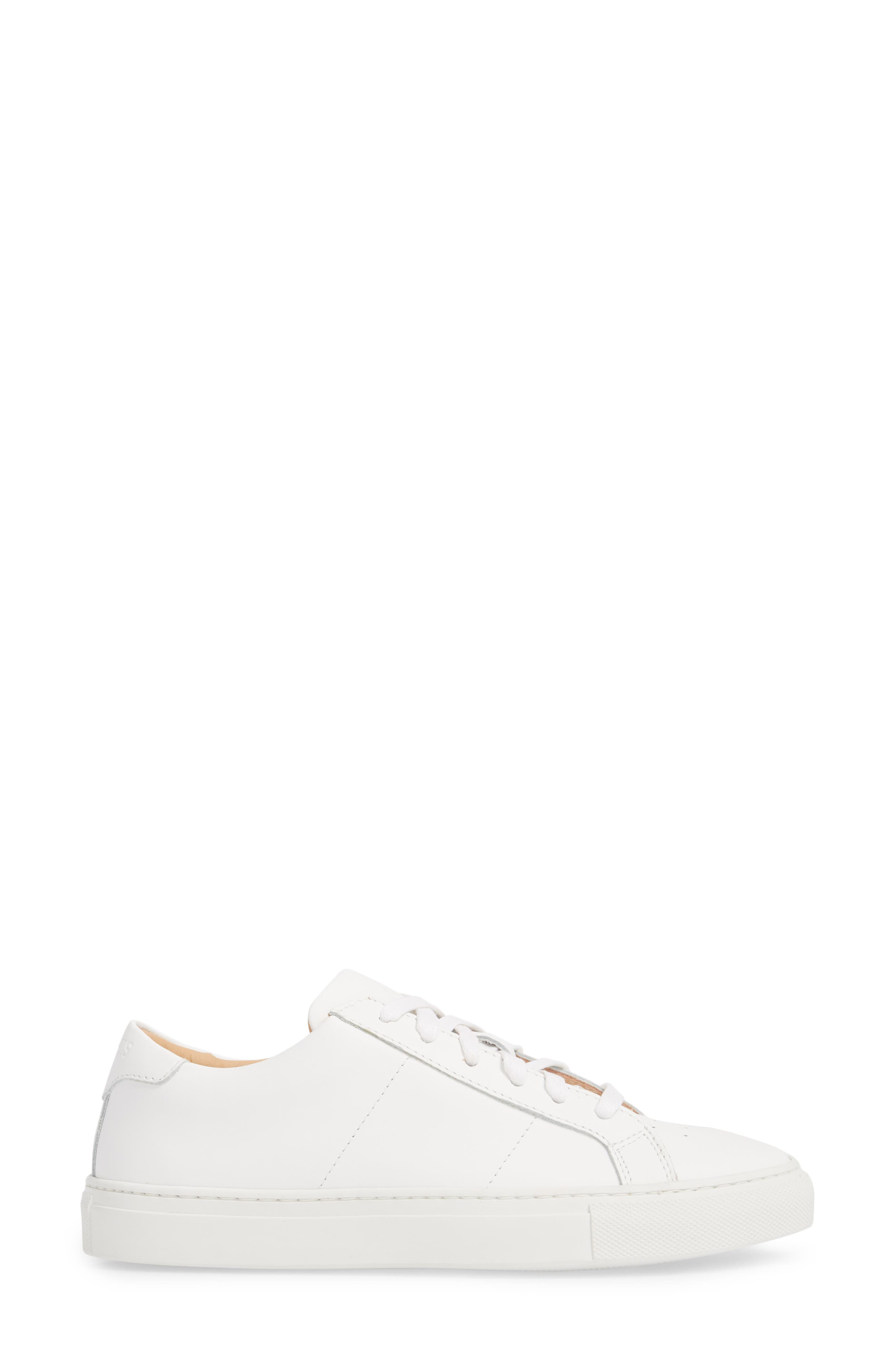 Royale Sneaker,                             Alternate thumbnail 3, color,                             White Flat Leather
