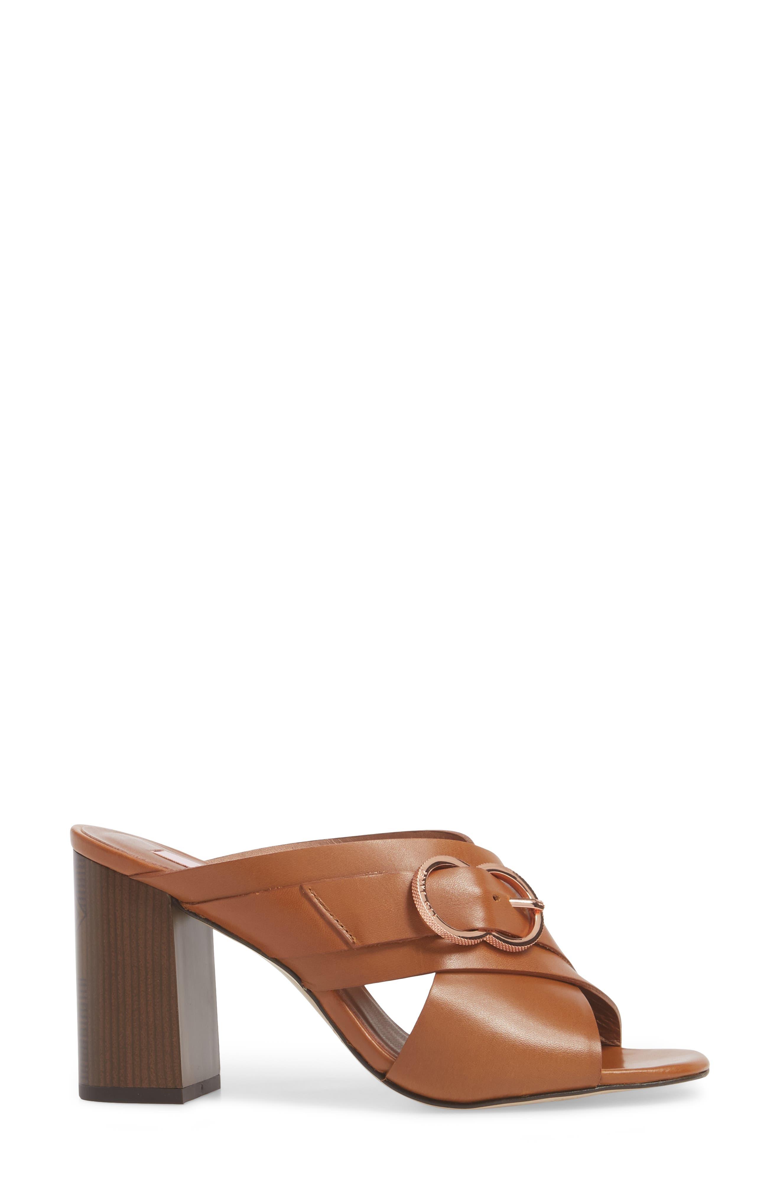 Maladas Slide Sandal,                             Alternate thumbnail 3, color,                             Tan Leather