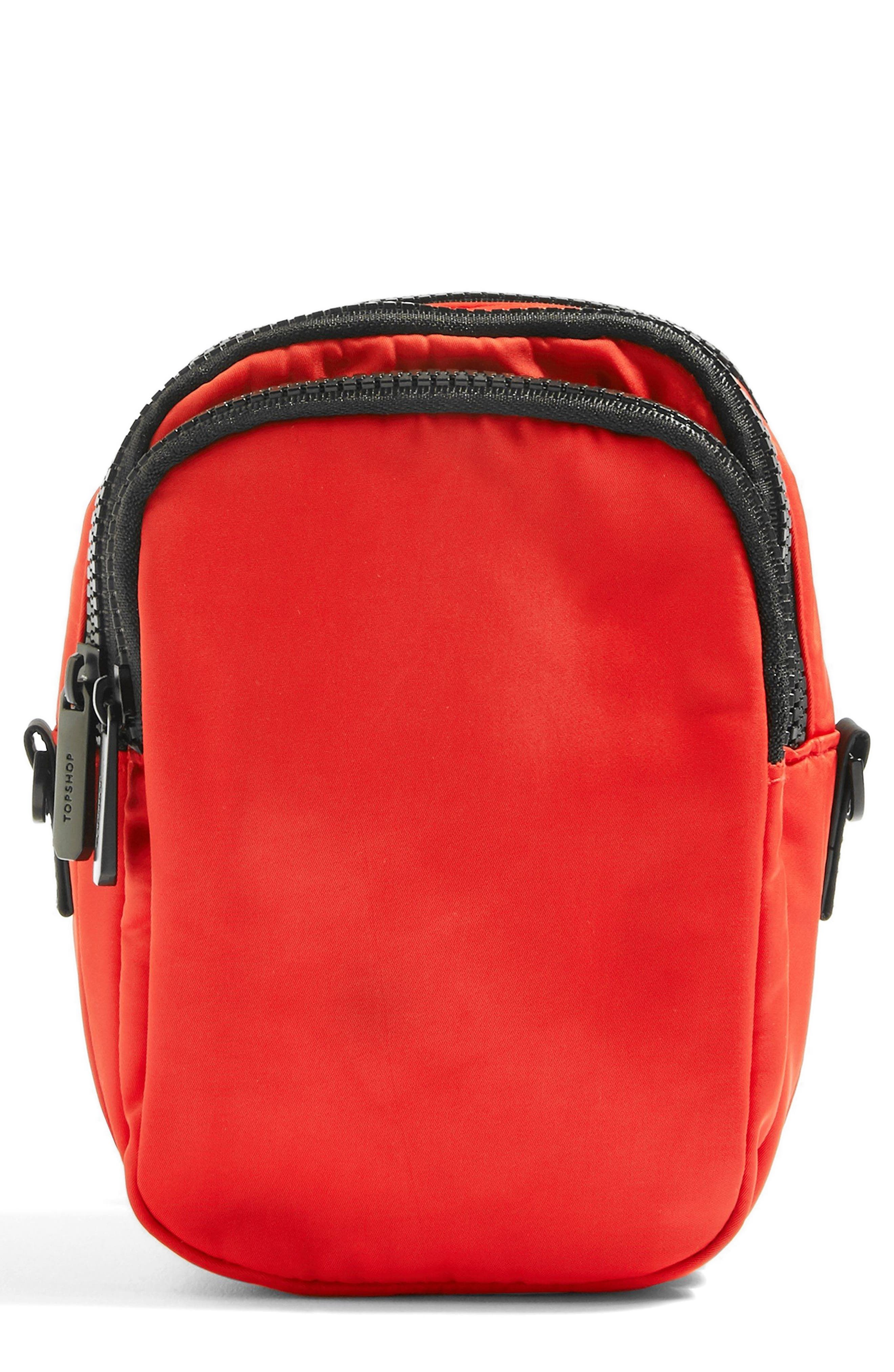 Storm Nylon Pouch,                             Main thumbnail 1, color,                             Red