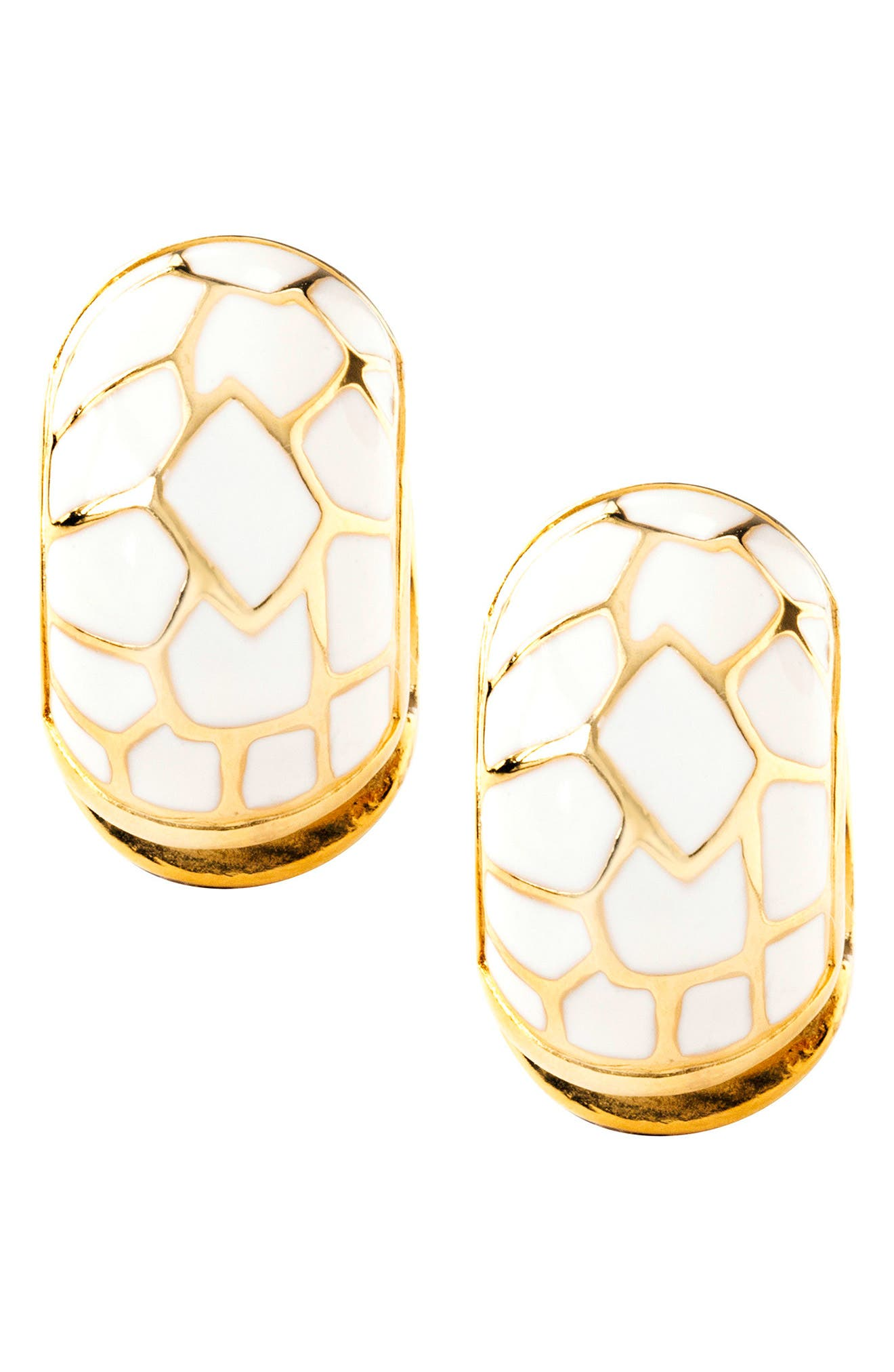 White Cobblestone Earrings,                             Alternate thumbnail 4, color,                             White