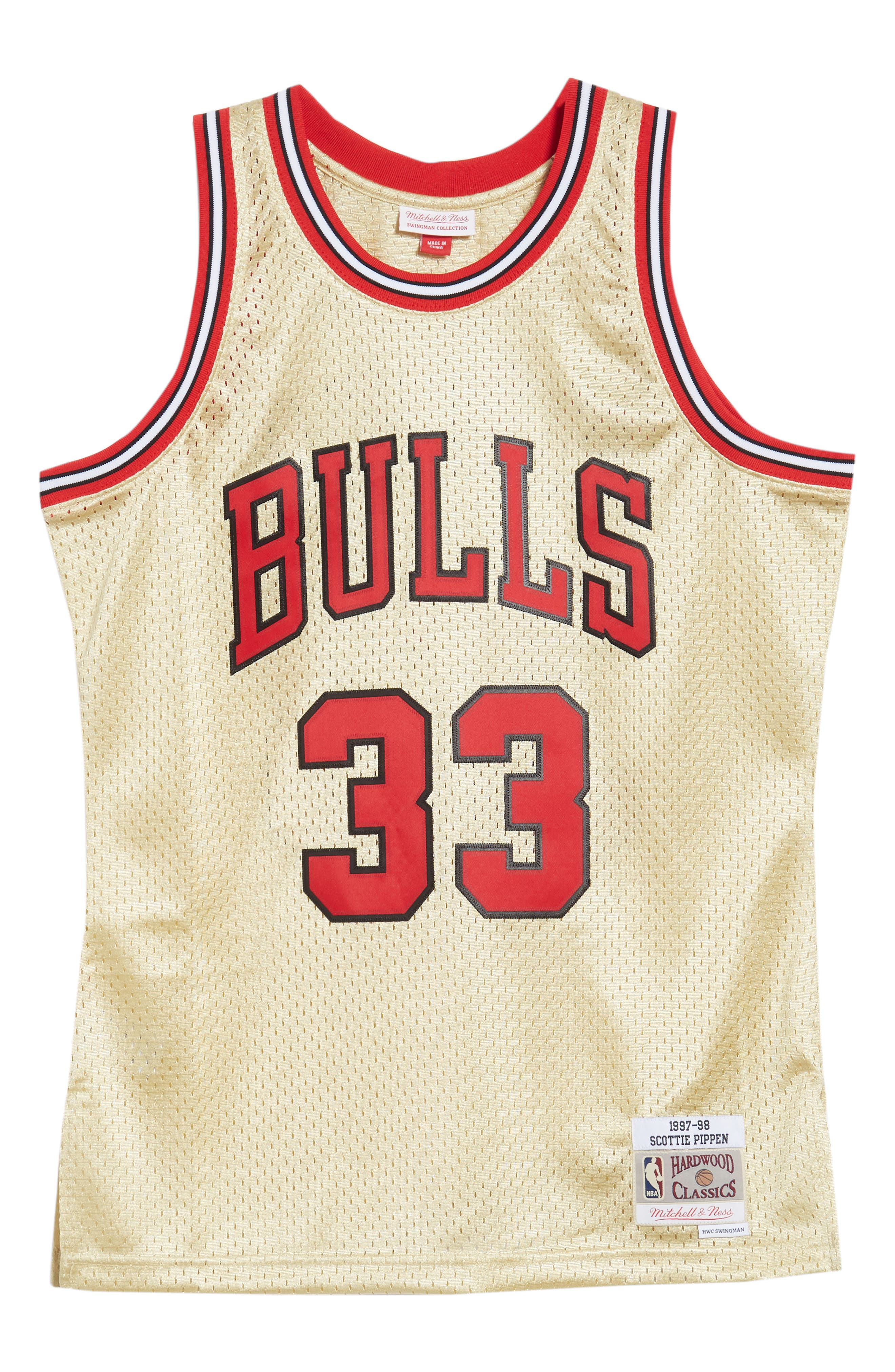 NBA Gold Pippen Jersey,                             Alternate thumbnail 6, color,                             Gold