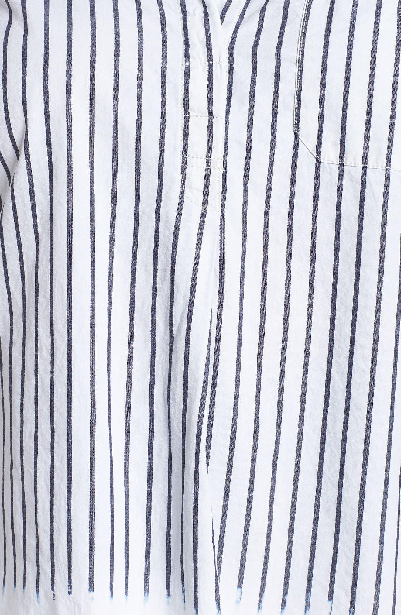 Miles Stripe Maxi Tunic Top,                             Alternate thumbnail 6, color,                             Heritage Navy Stripe