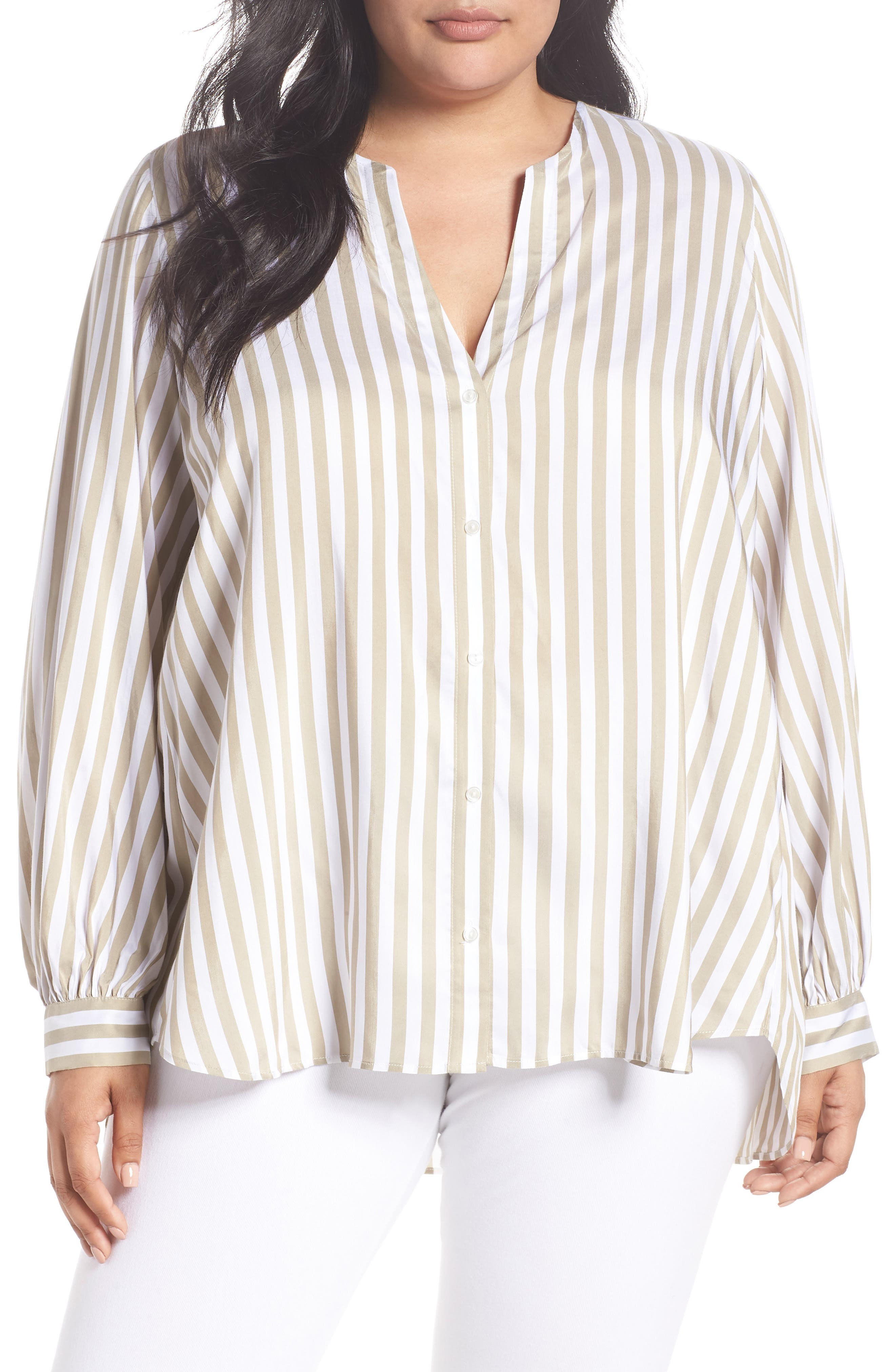 Persona by Marina Rinaldi Stripe Woven Top (Plus Size)